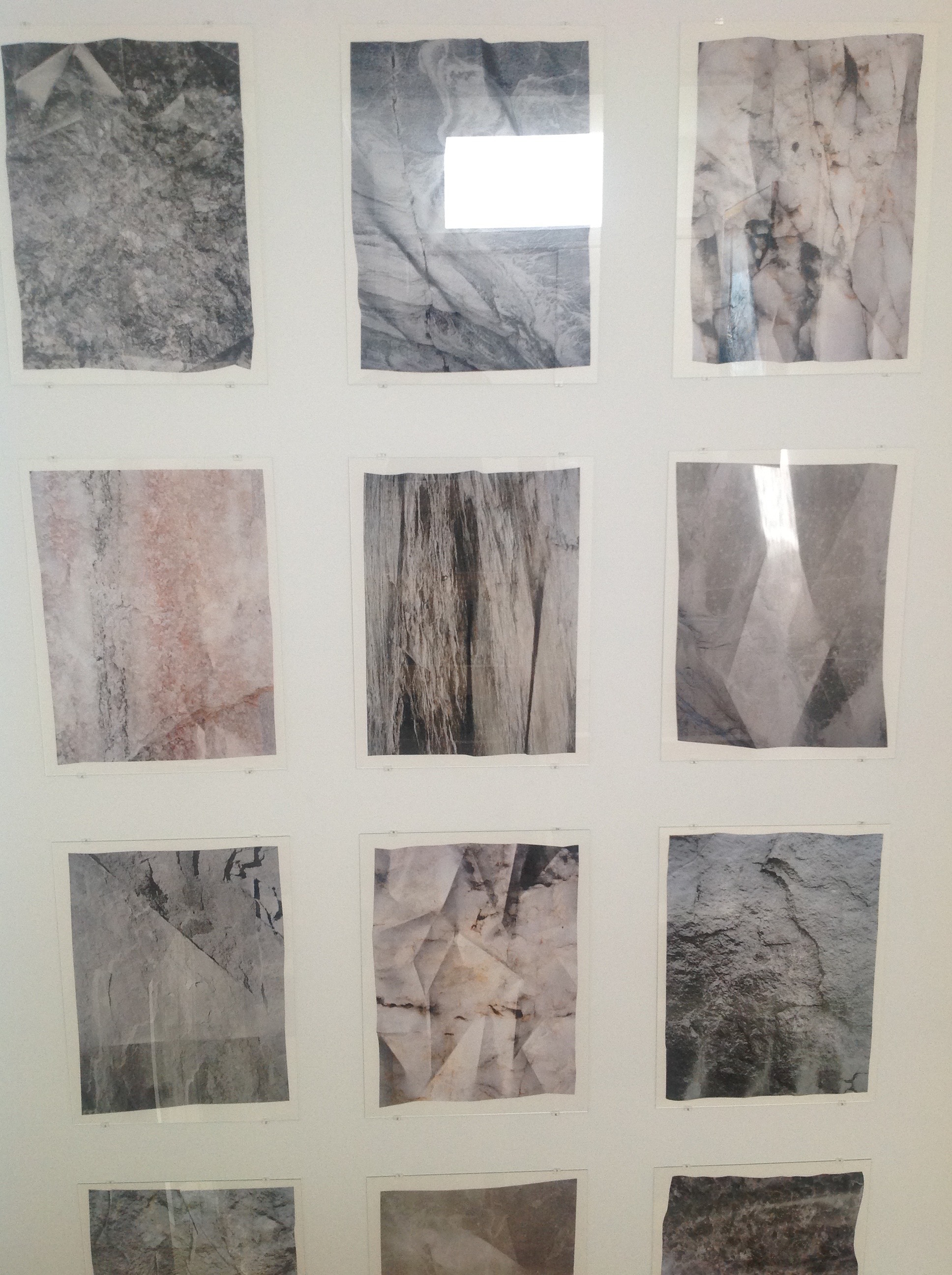 Sibylle Eimermacher has been inspired by the stones in quarries of Scandinavia, producing new images in photography and folded paper which interpret the durability of stone through a fragile and delicate medium.