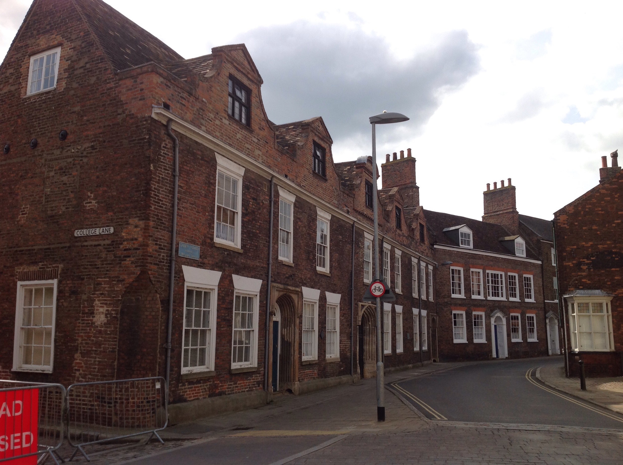 Thoresby College with a view along Queen Street in the Old Town