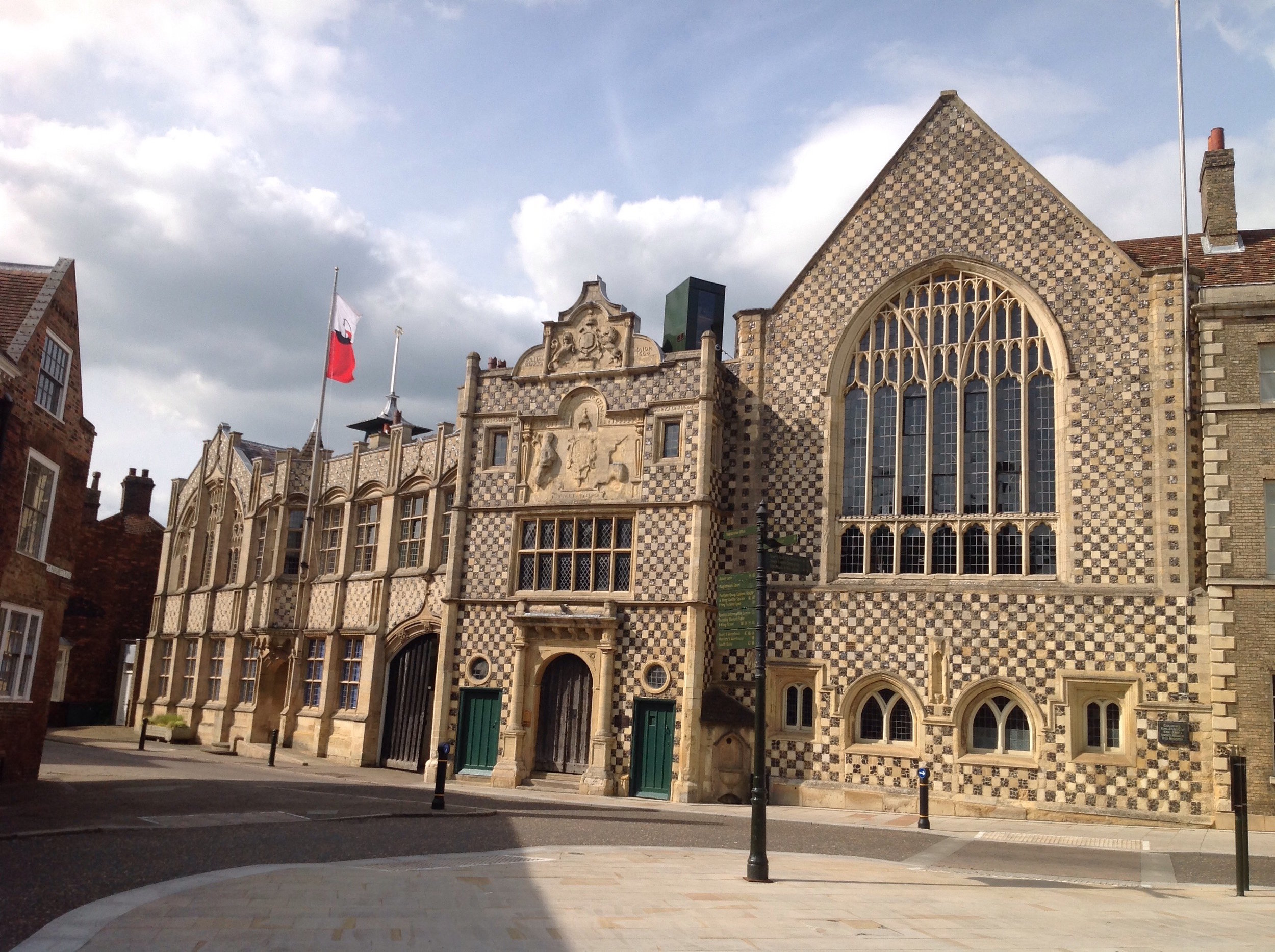 The Trinity Guildhall, now the Town Hall and home for one of King's Lynn's museums, Stories of Lynn, containing the town's treasure and some of the most remarkable archives to survive from any medieval town.