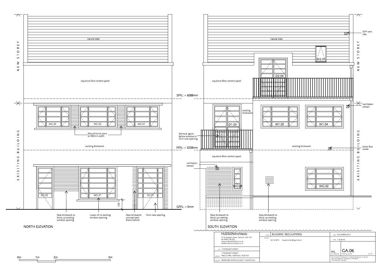 One of the interim architect's drawings by award-winning practice Hudson Architects   http://hudsonarchitects.co.uk/