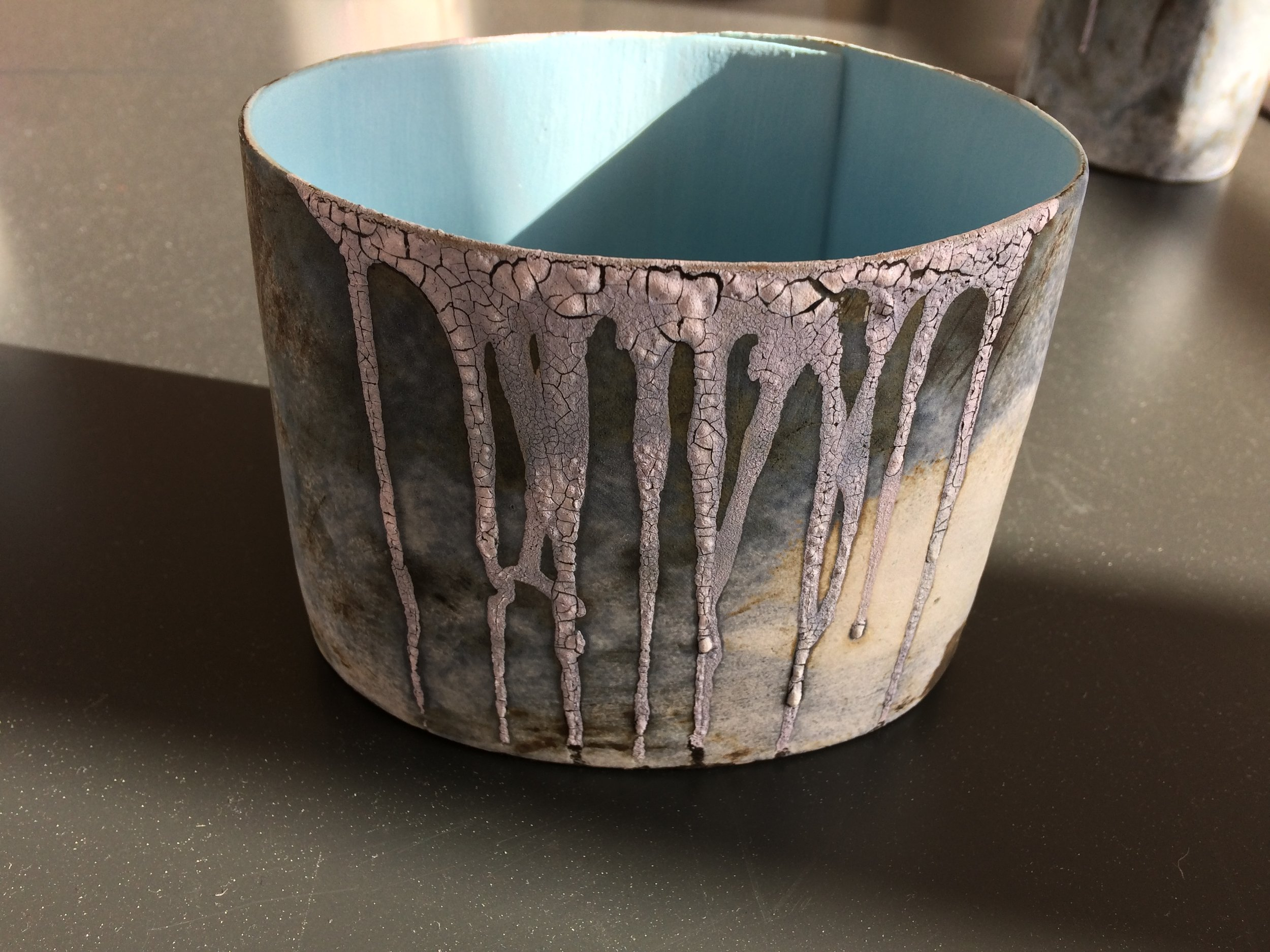 One of Hilary Mayo's beautiful Topography of a Landscape ceramics