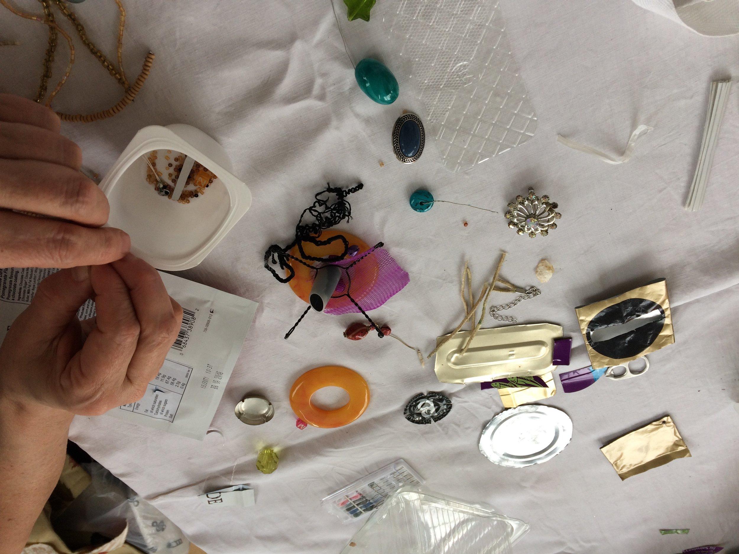 Experimeting with plastics as art materials