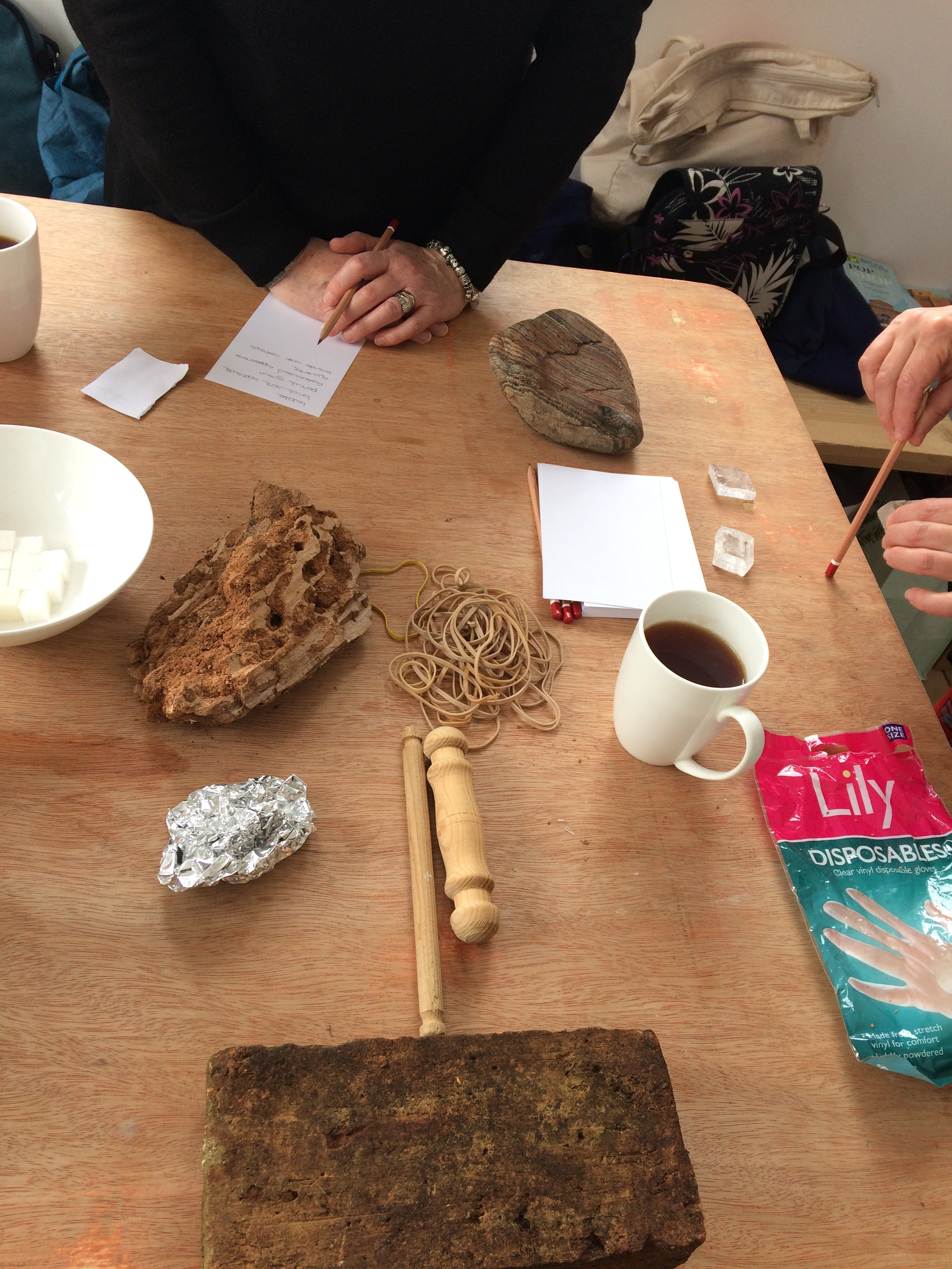 Workshop in progress with a group from West Norfolk MIND