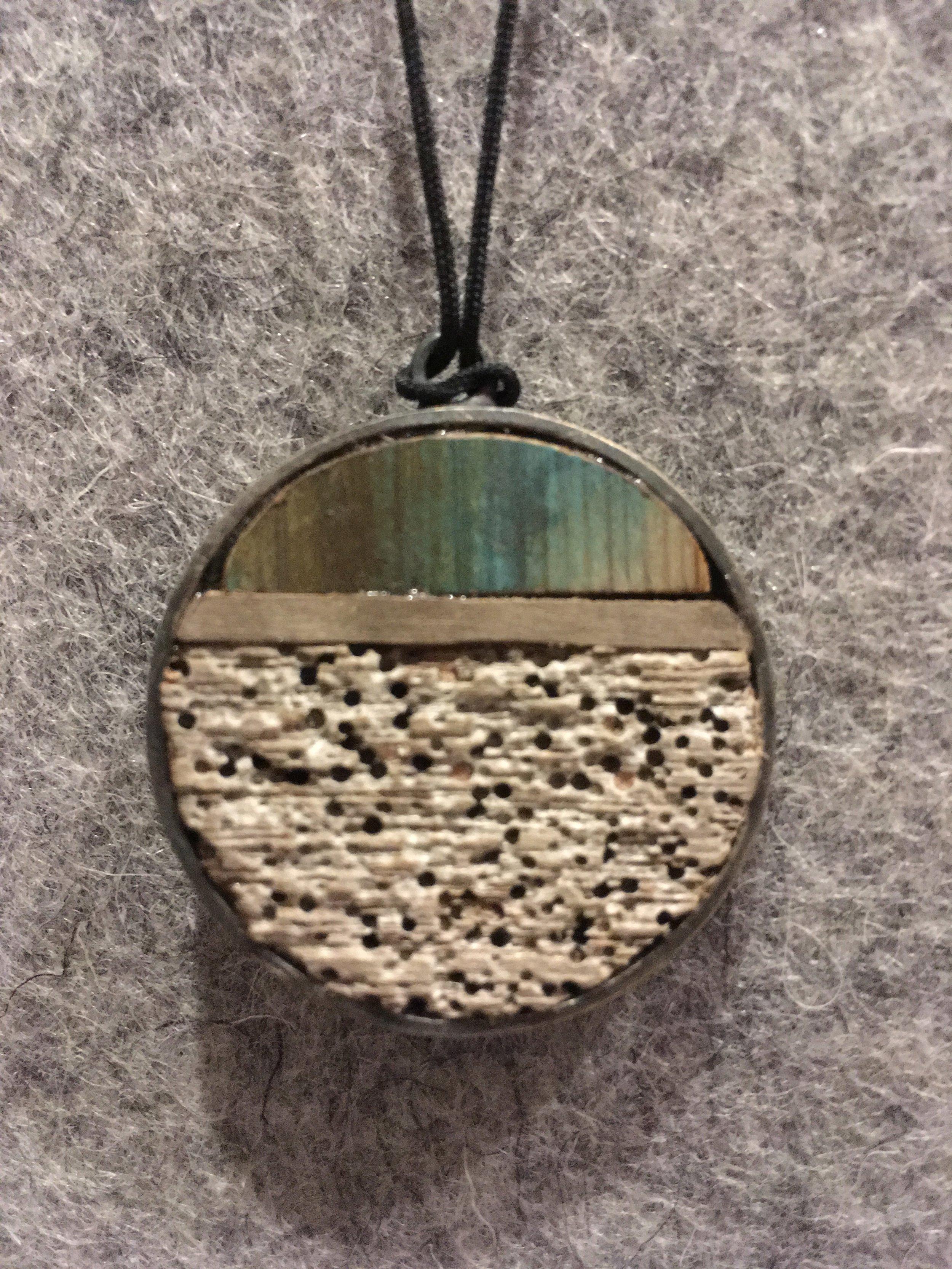 Helga Mogensen Pendant in various driftwoods found in Iceland