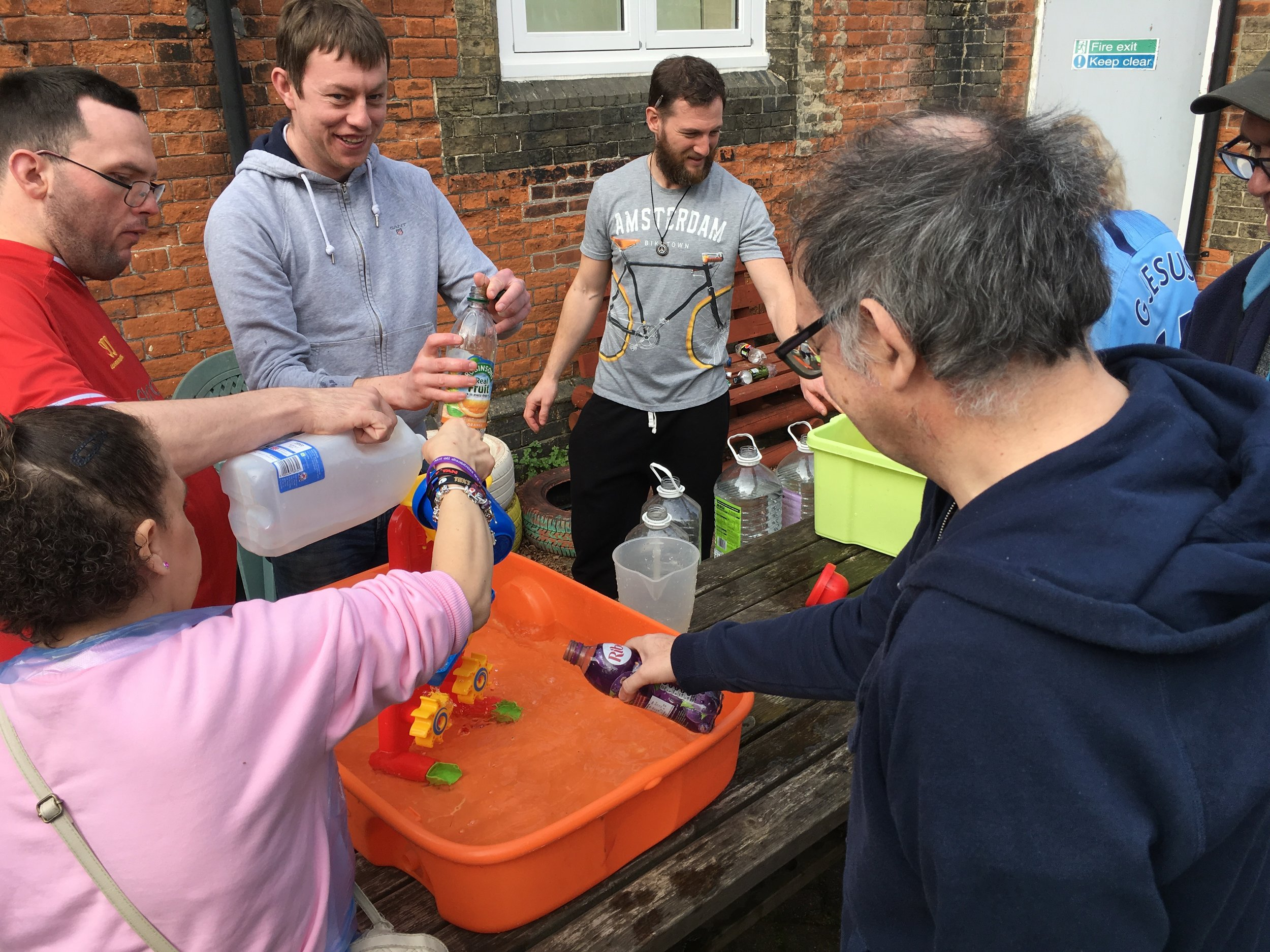 Living with water - experimenting with water at the fForward Day Centre