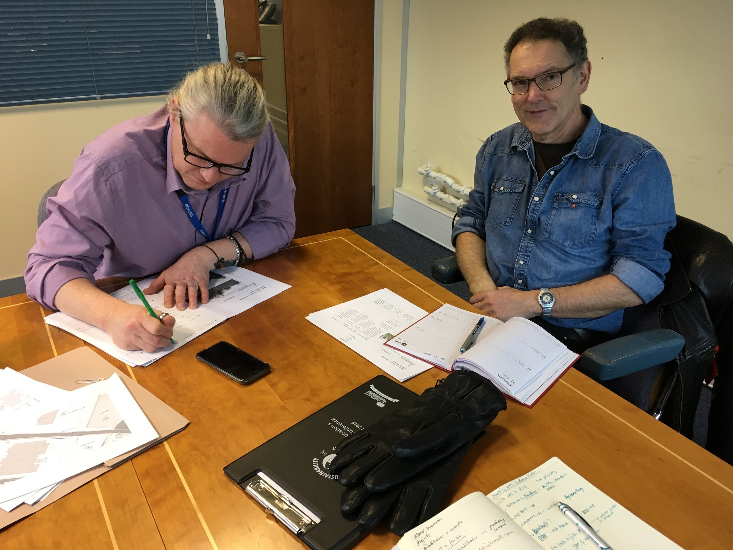 Richard Fisher, Tree Officer for Borough Council of Kings Lynn and West Norfolk and Rick Morrish representing the King's Lynn Civic Society at our latest planning meeting for the next tree plantings for 2019.  https://democracy.west-norfolk.gov.uk/documents/s15559/BCKLWN%20Draft%20Tree%20and%20Woodland%20Strategy%20062017.pdf