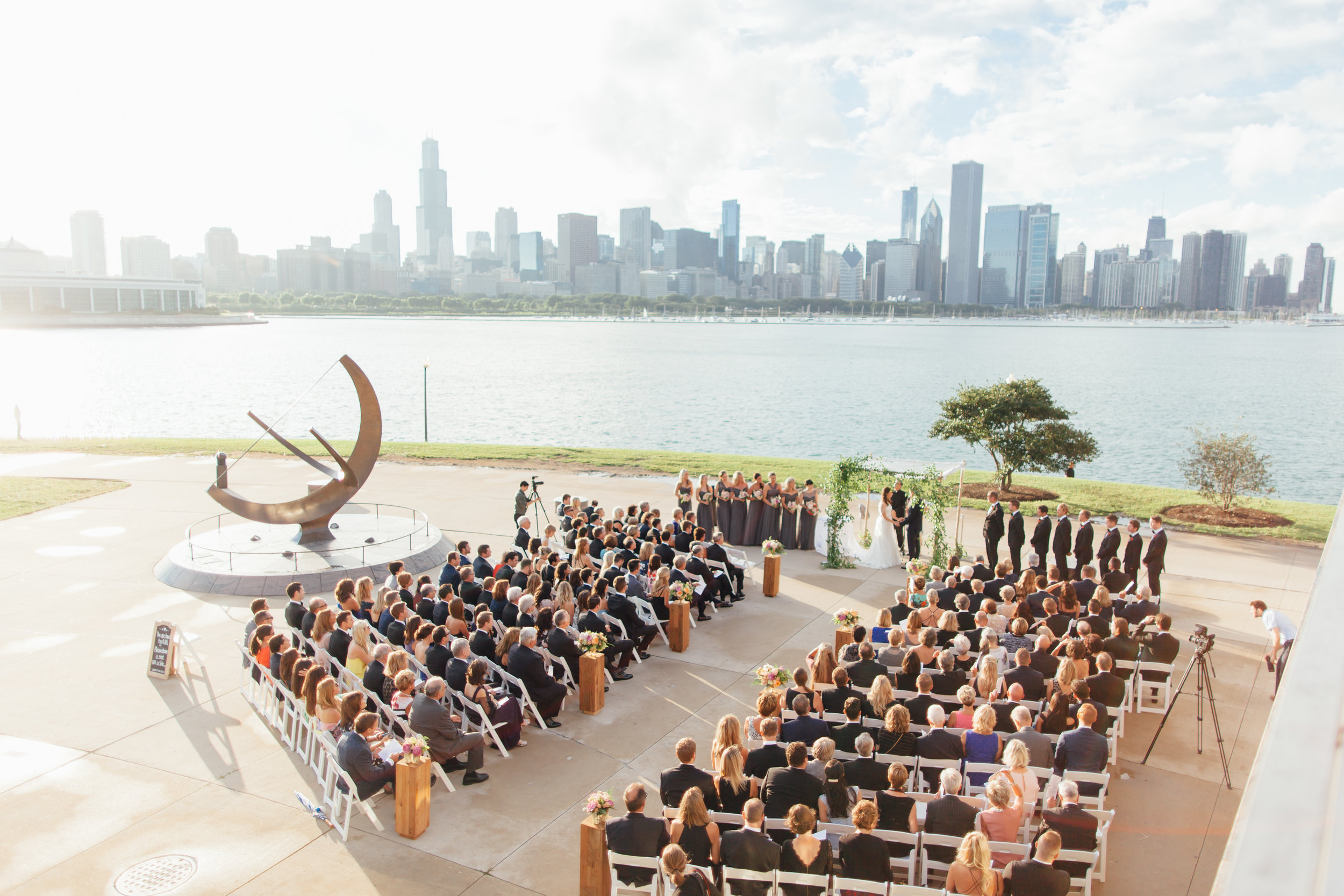 ceremony, jewish wedding, adler planetarium, wrap it up parties