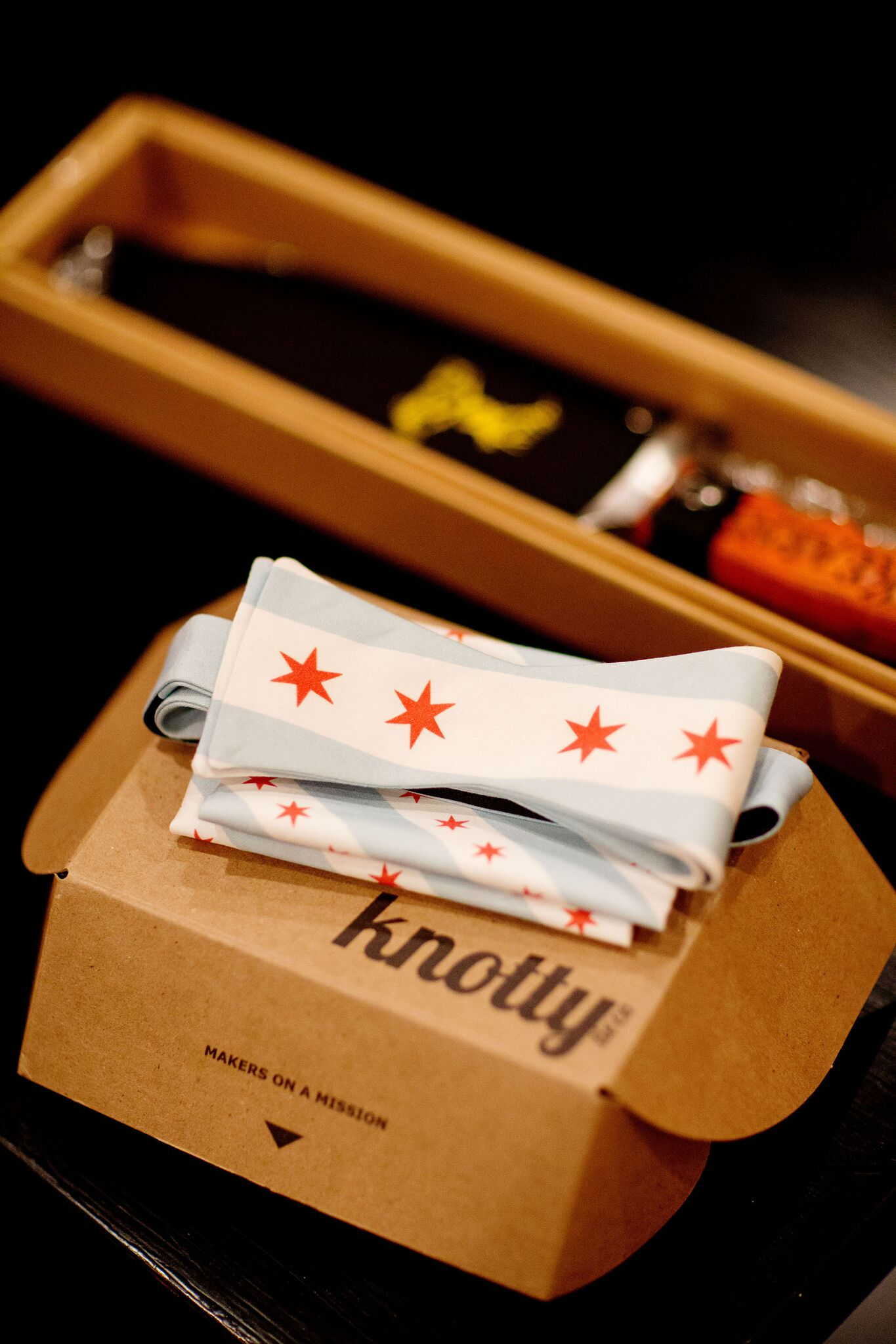 Chicago flag bow tie groomsmen gift   Chicago Flag Details   Planning By Wrap It Up Parties