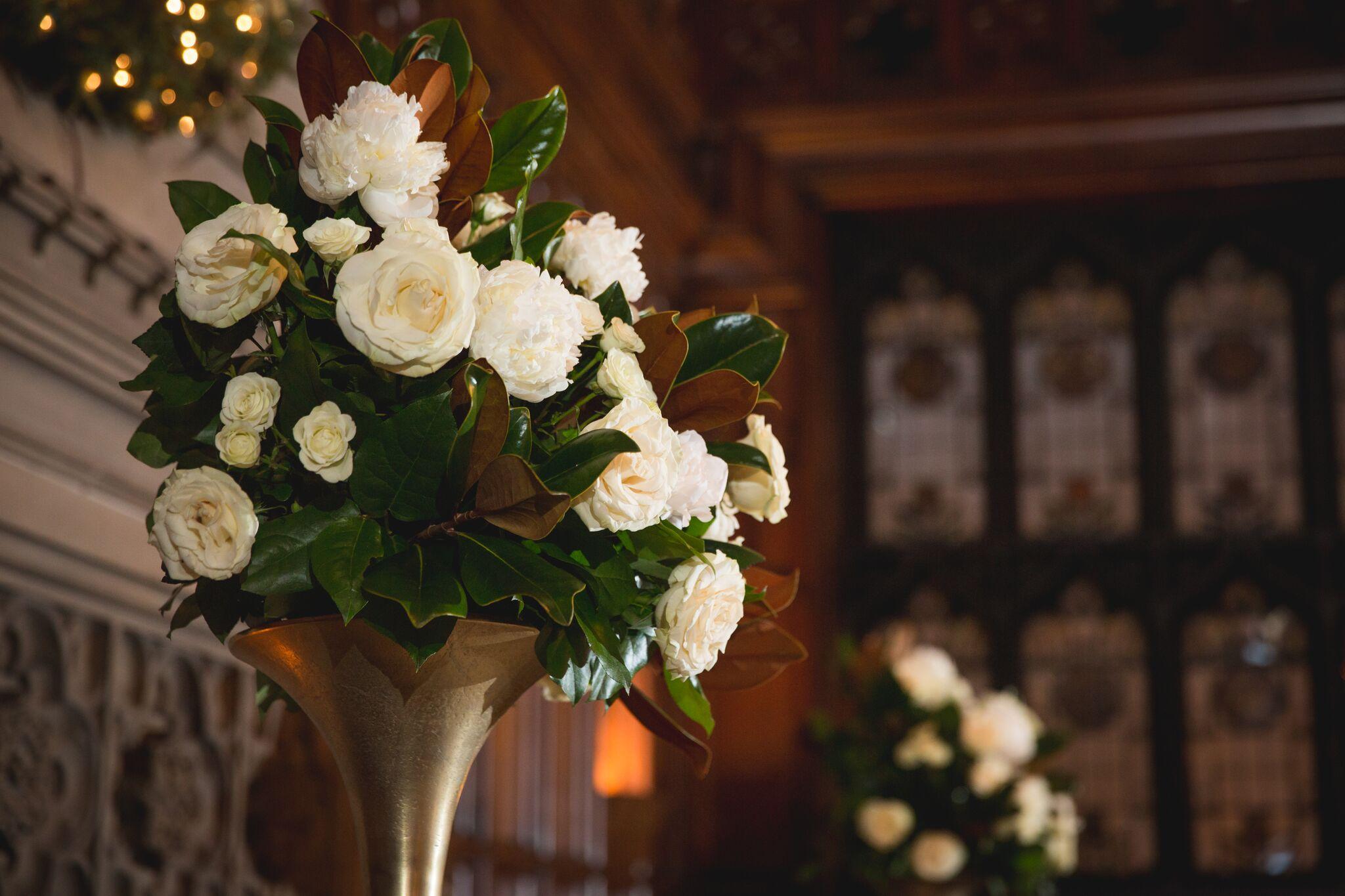 White Peonies Ceremony Arrangement