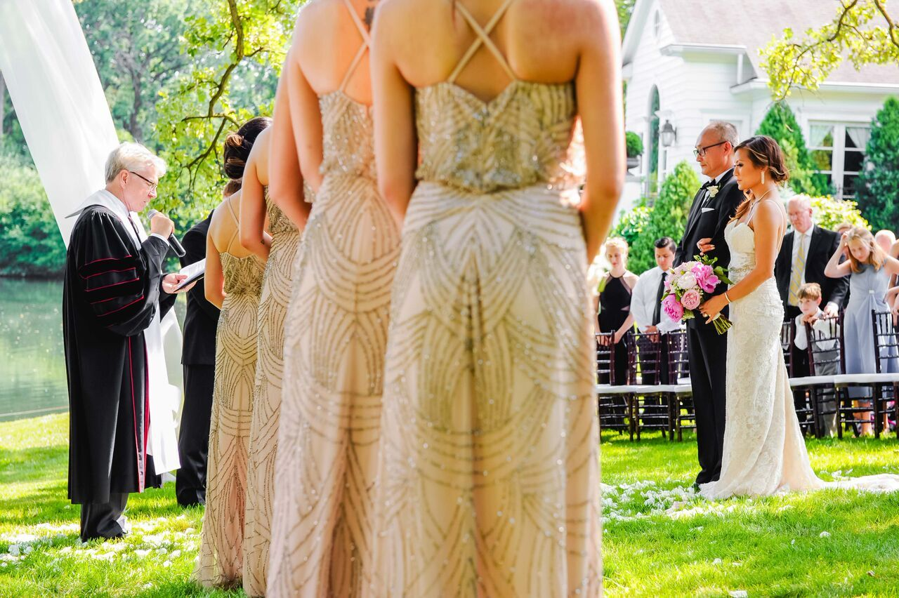 Embellished Bridesmaids Dresses