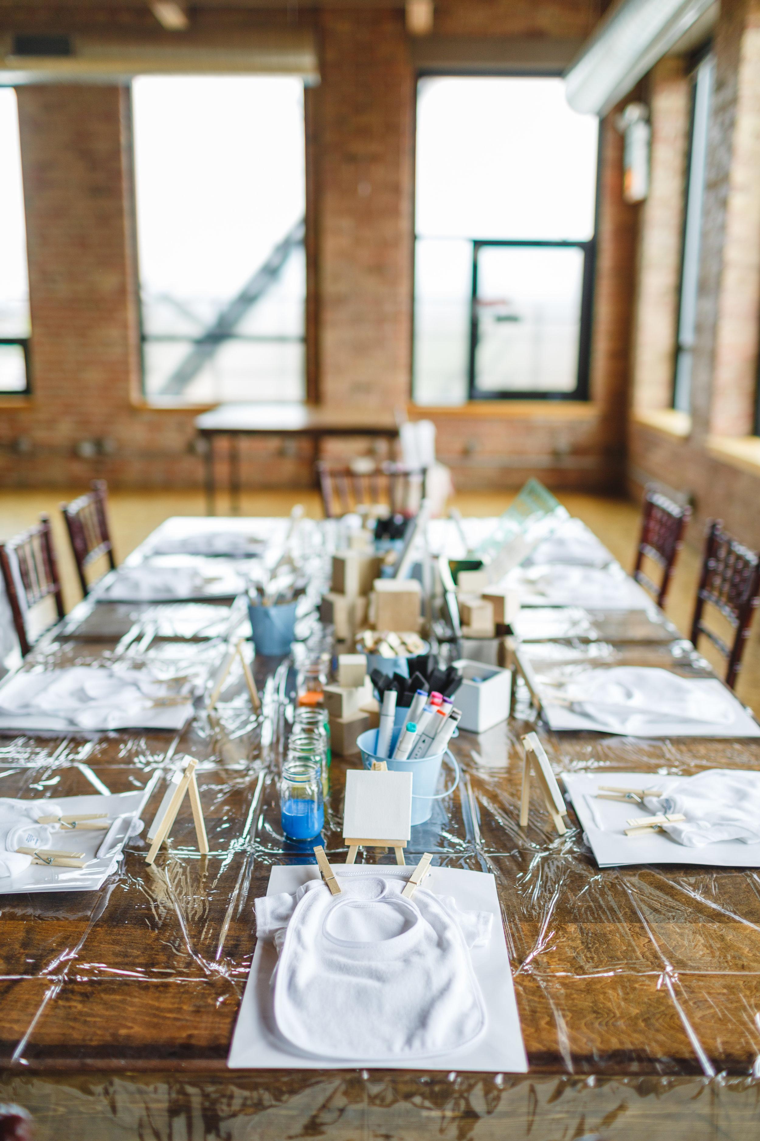 Onesie Decorating Table
