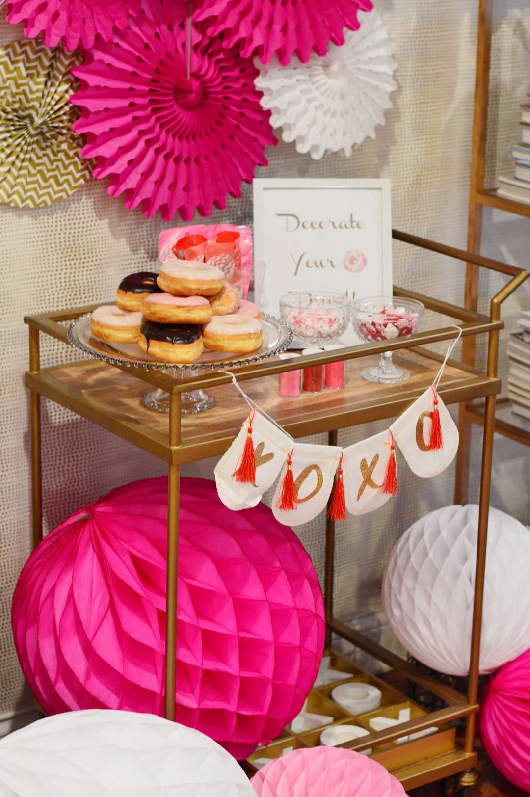 donut party, valentines day party, donut birthday party, Wrap It Up Parties