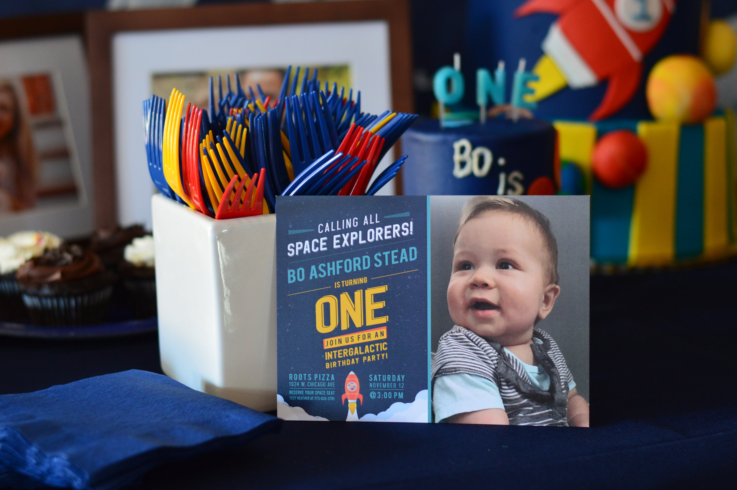 space first birthday, boy first birthday party, Wrap It Up Parties