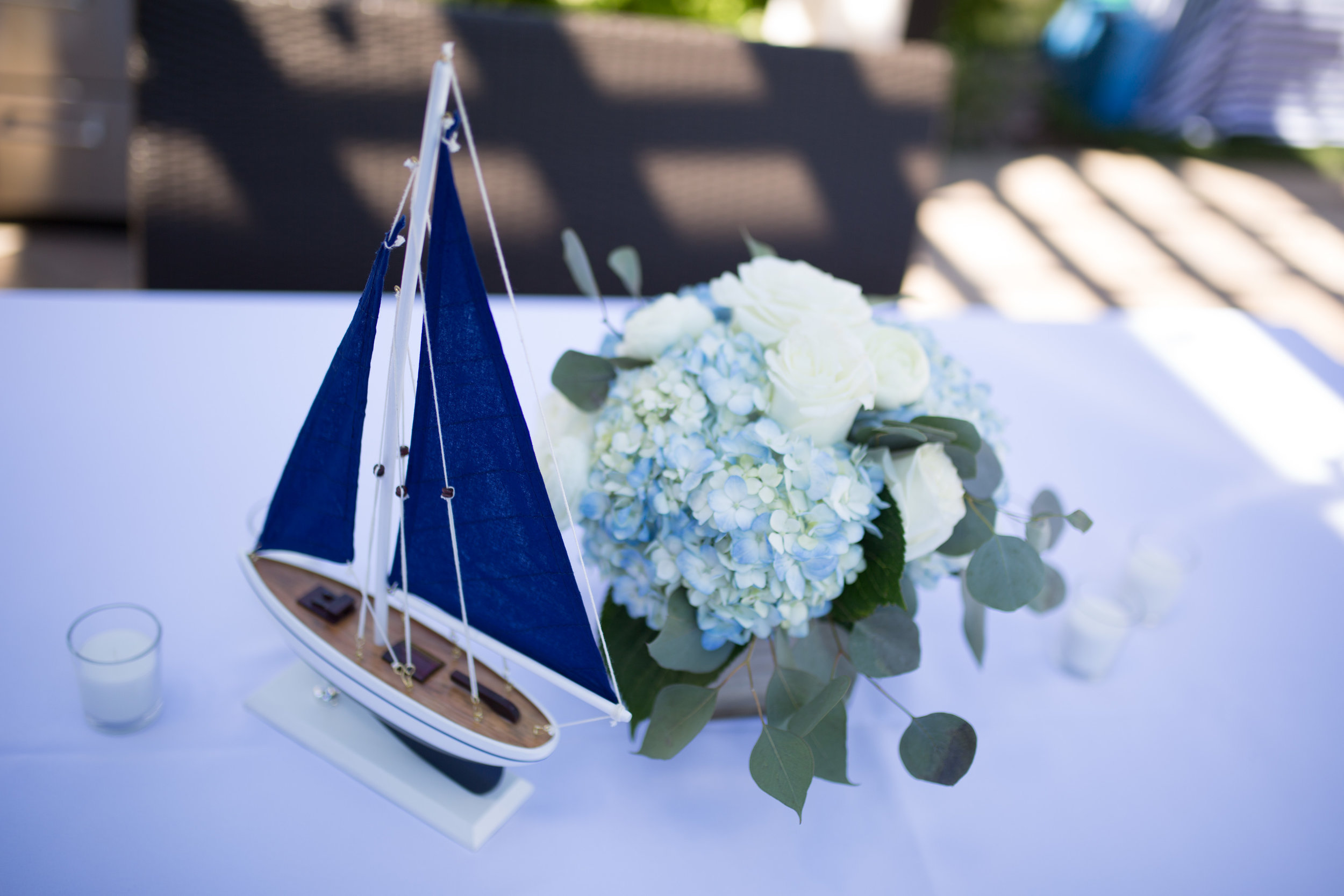 nautical first birthday party, nautical centerpieces, boy first birthday party, Wrap It Up Parties
