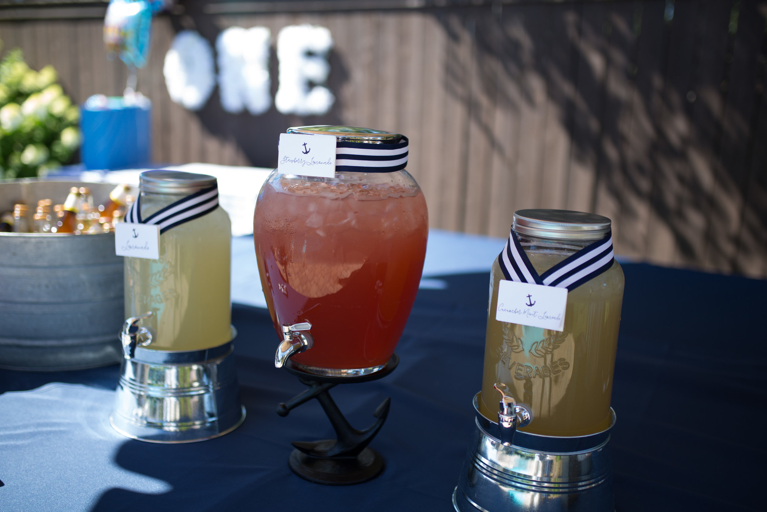 nautical first birthday party, nautical drinks, first birthday party, Wrap It Up Parties