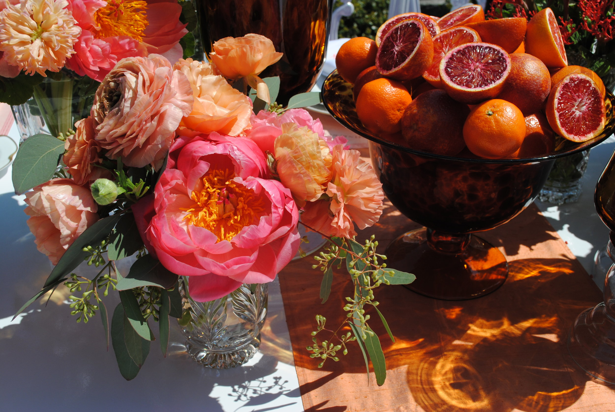 citrus decor, rooftop bridal shower, Wrap It Up Parties