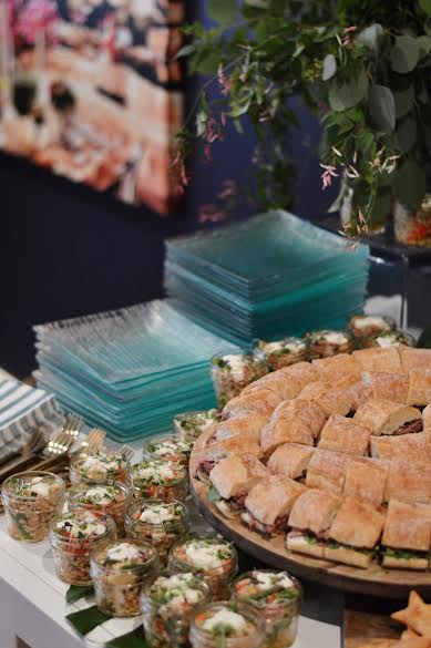 rustic baby girl shower, baby shower picnic foods, Wrap It Up Parties