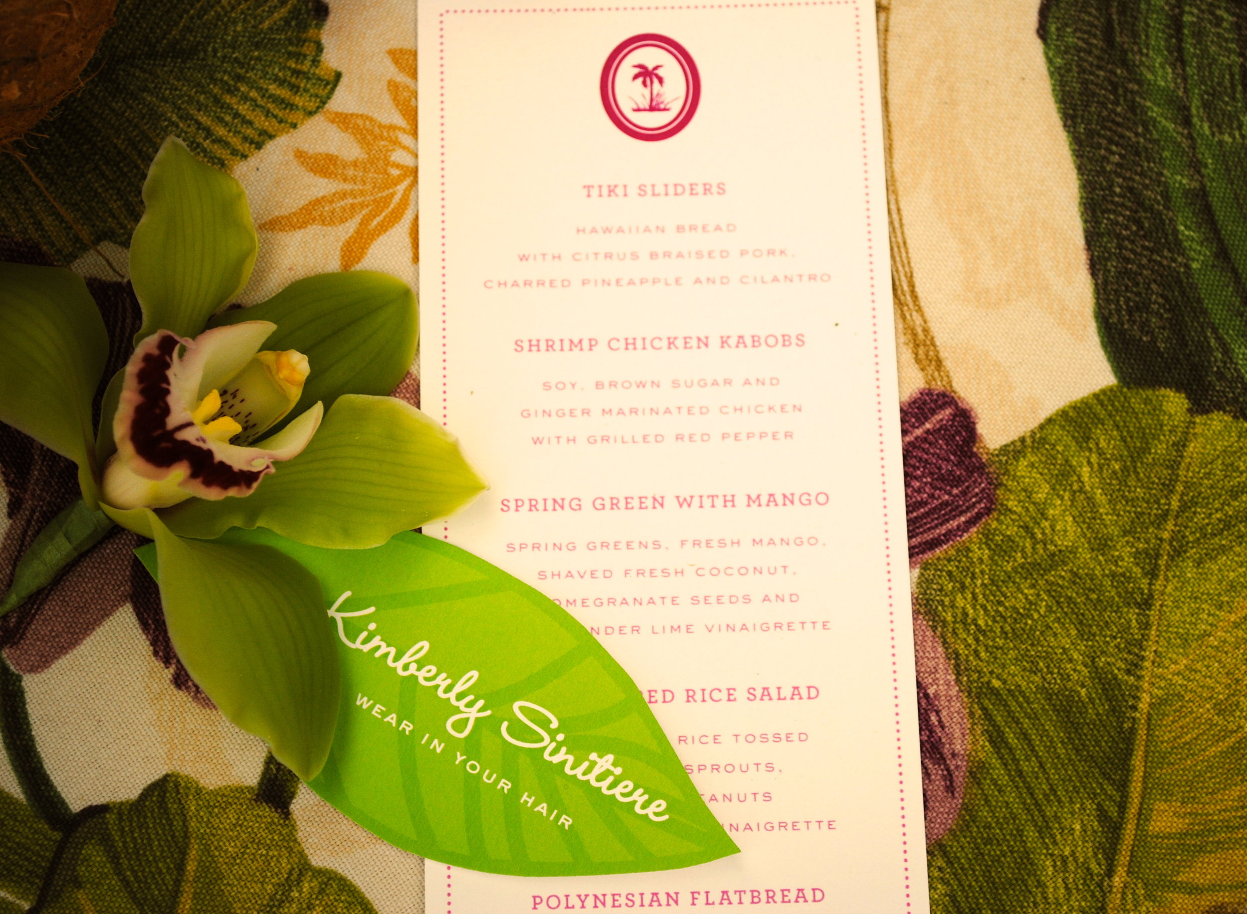 tropical baby shower menu, aloha baby, baby girl shower, Wrap It Up Parties