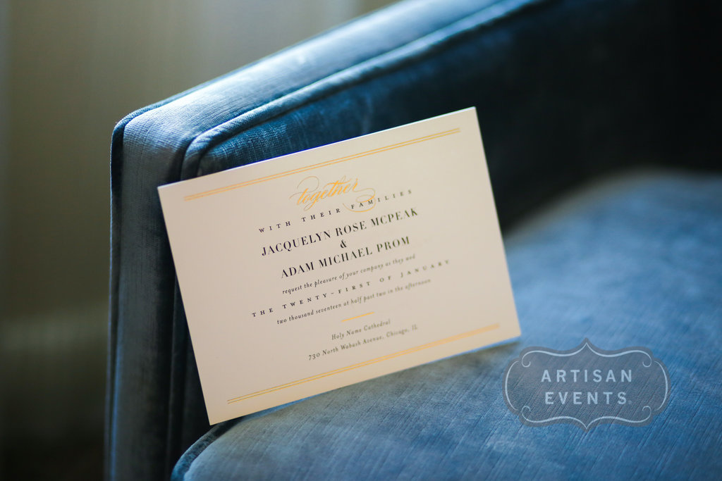 wedding invitations, Chicago Cultural Center, Wrap It Up Parties