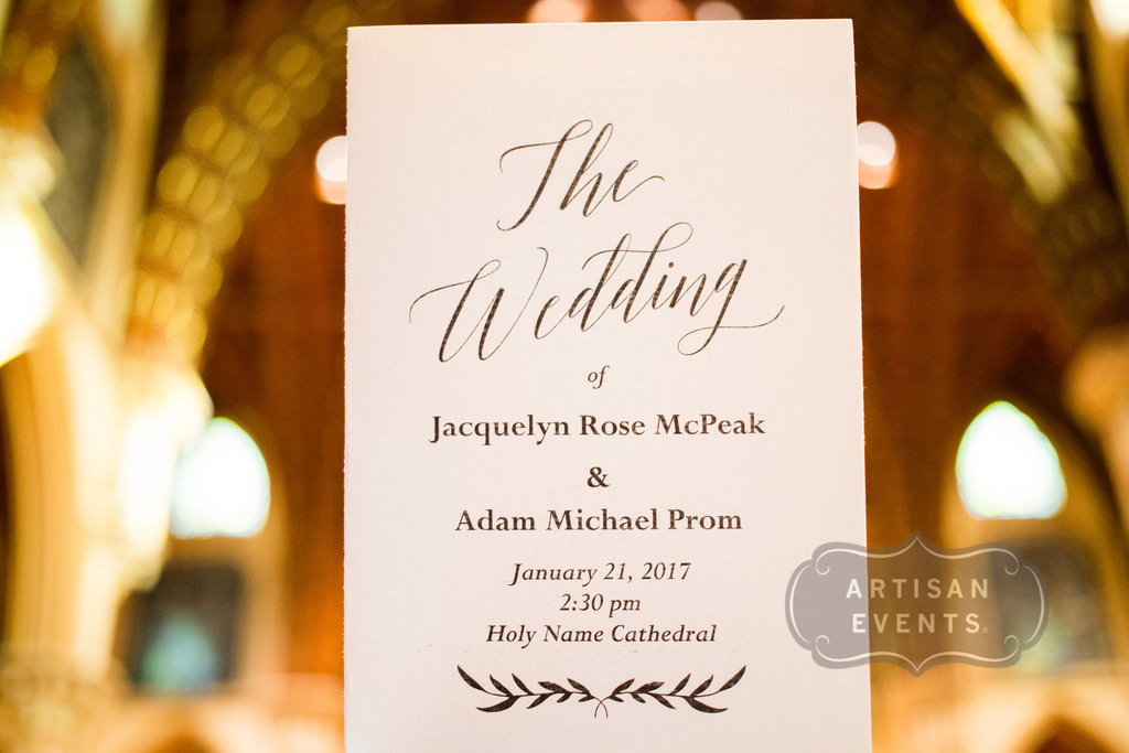 wedding sign, Chicago Cultural Center, Wrap It Up Parties