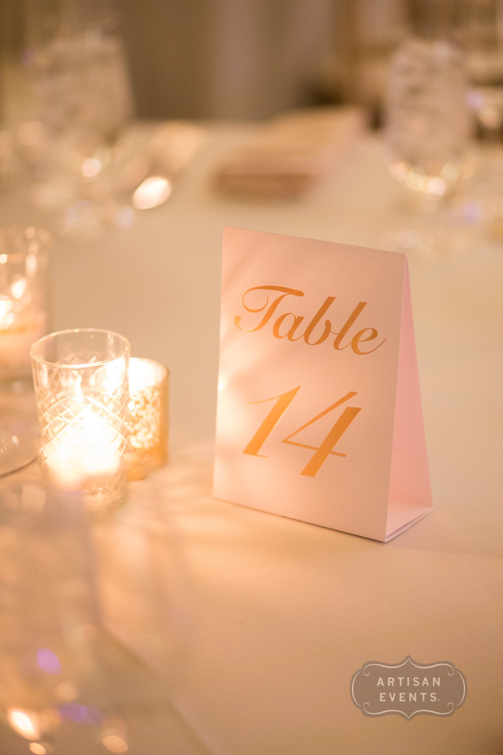 table numbers, Chicago Cultural Center, Wrap It Up Parties