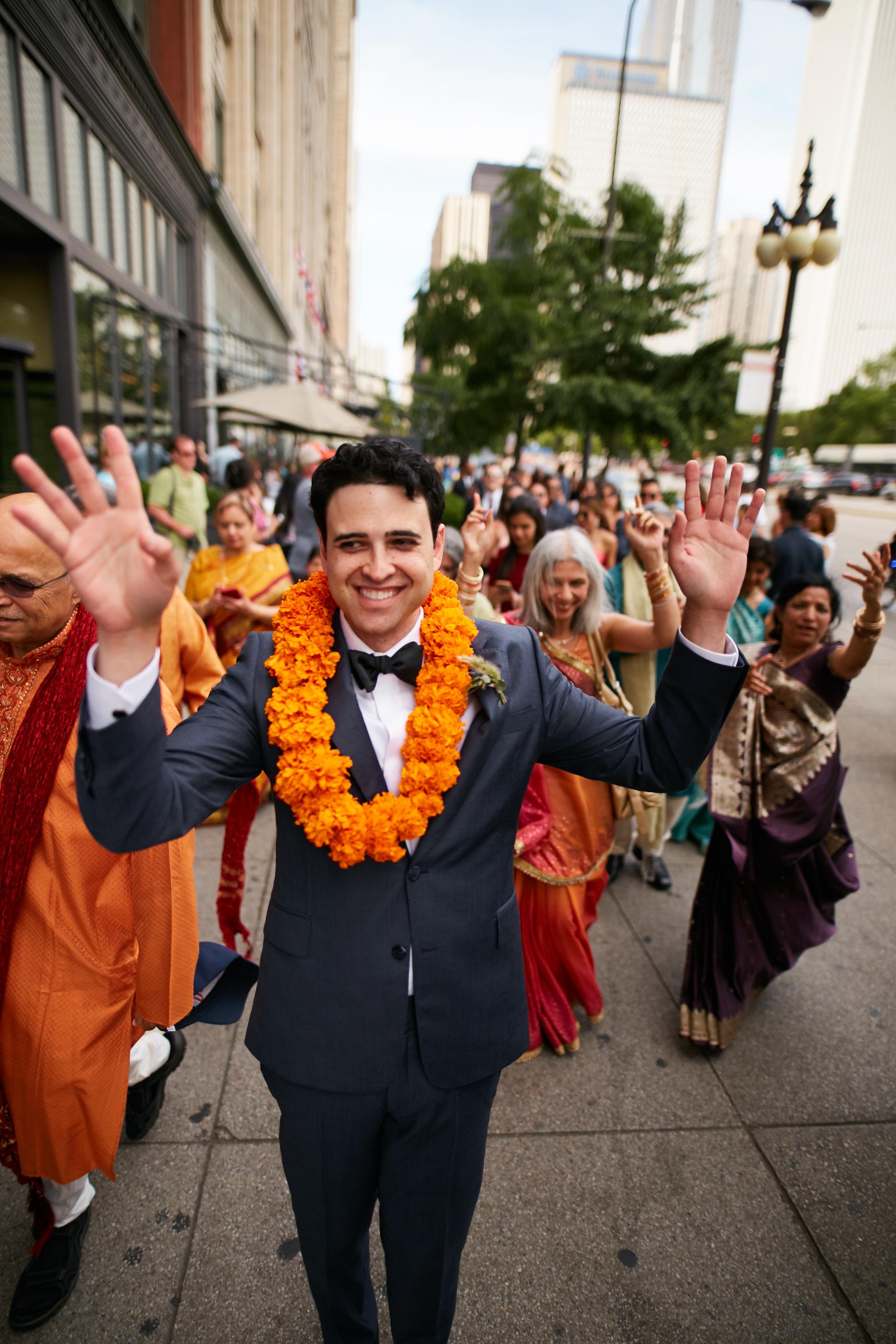 baraat, indian wedding, groom, Cancer Survivor Park, Wrap It Up Parties