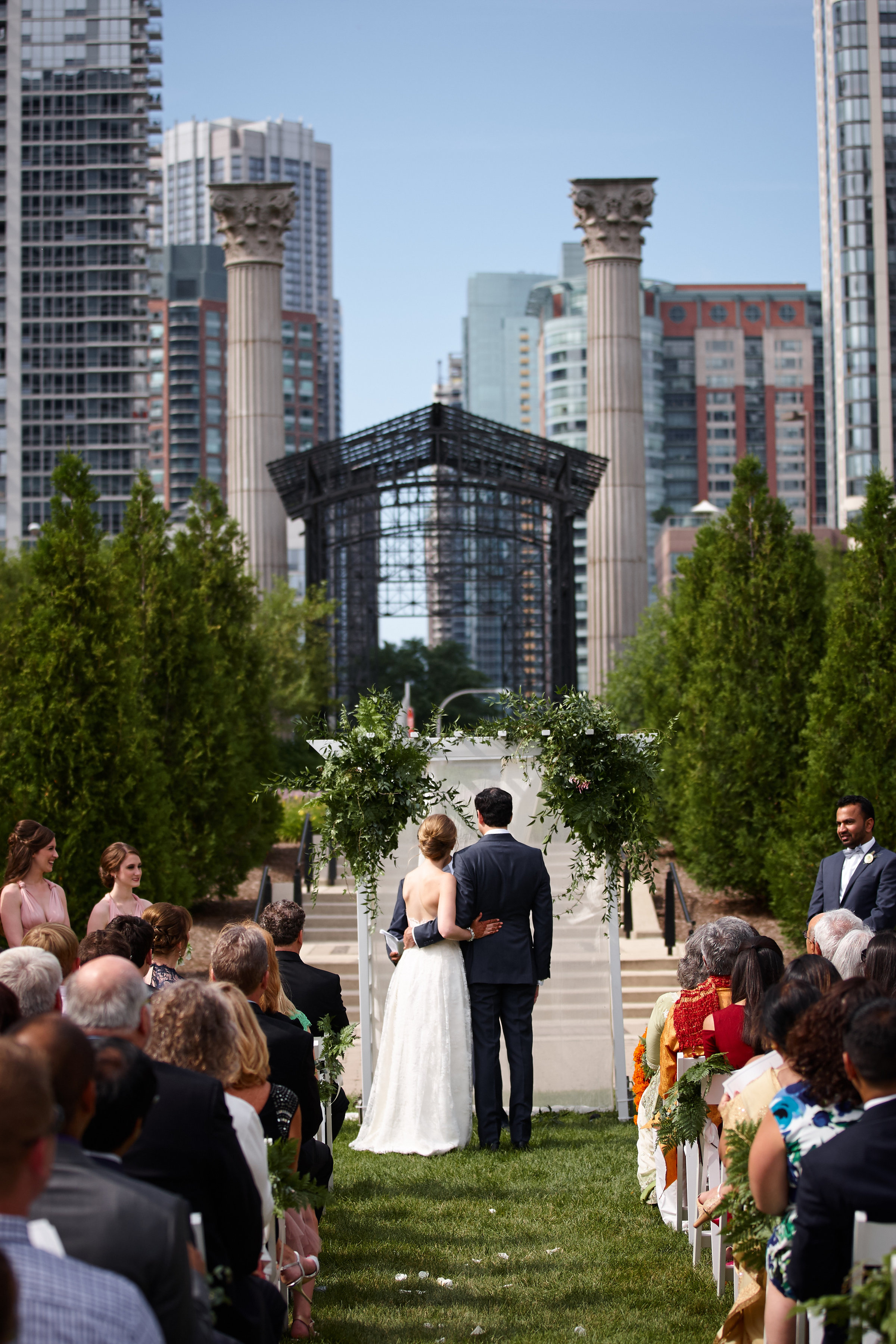 bride and groom, indian wedding, Cancer Survivor Park, Wrap It Up Parties