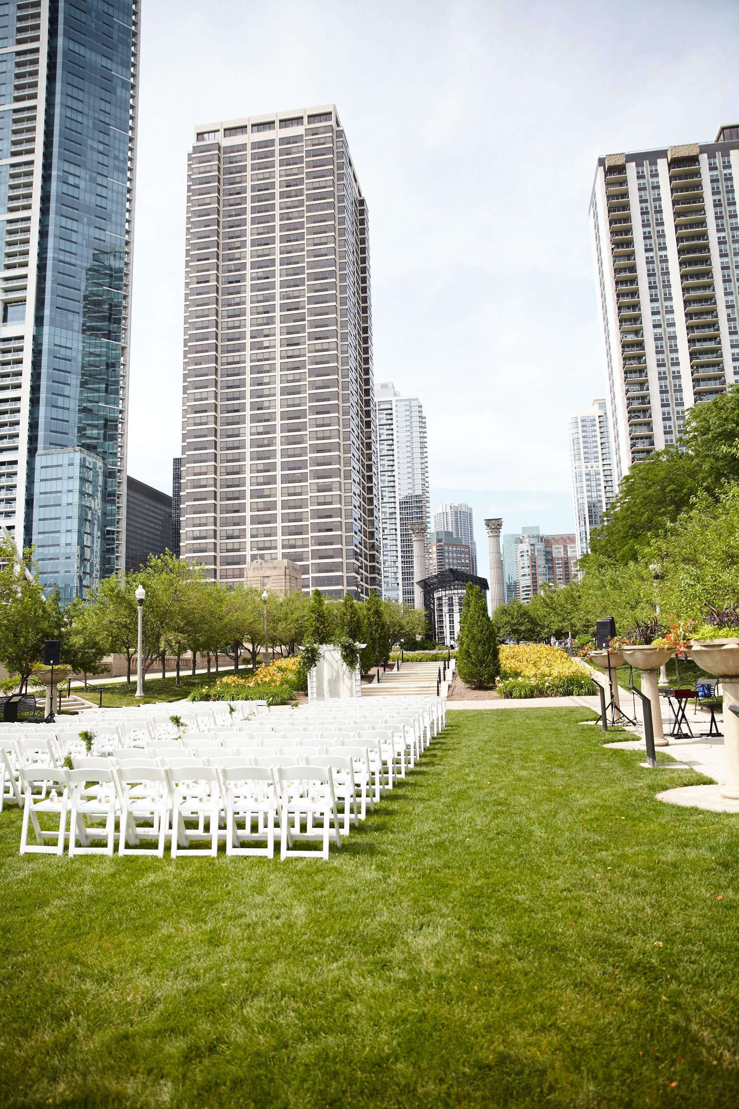 ceremony seating, Cancer Survivor Park, Wrap It Up Parties