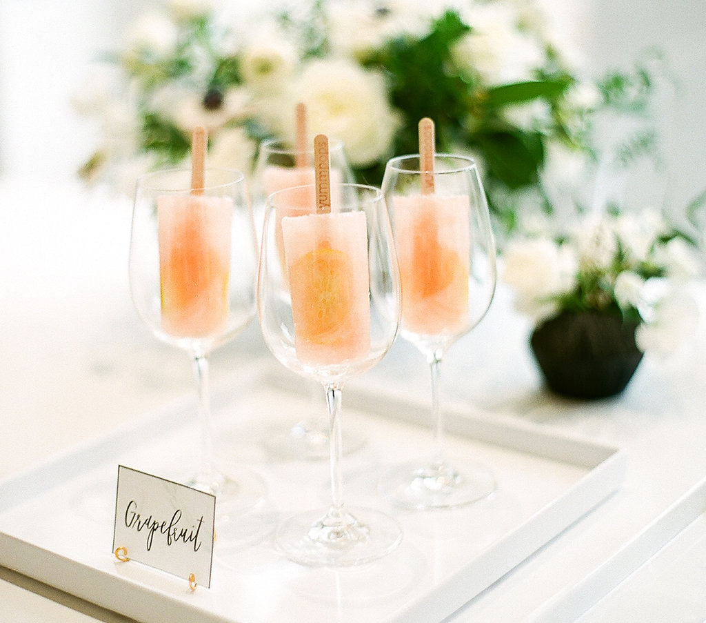 Champagne Popsicles  Shower Popsicle Drinks  Planning by Wrap It Up Parties