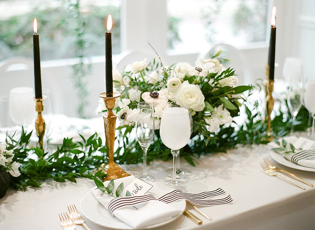 Greenery Shower Tablescape  Gold Accents  Planning by Wrap It Up Parties