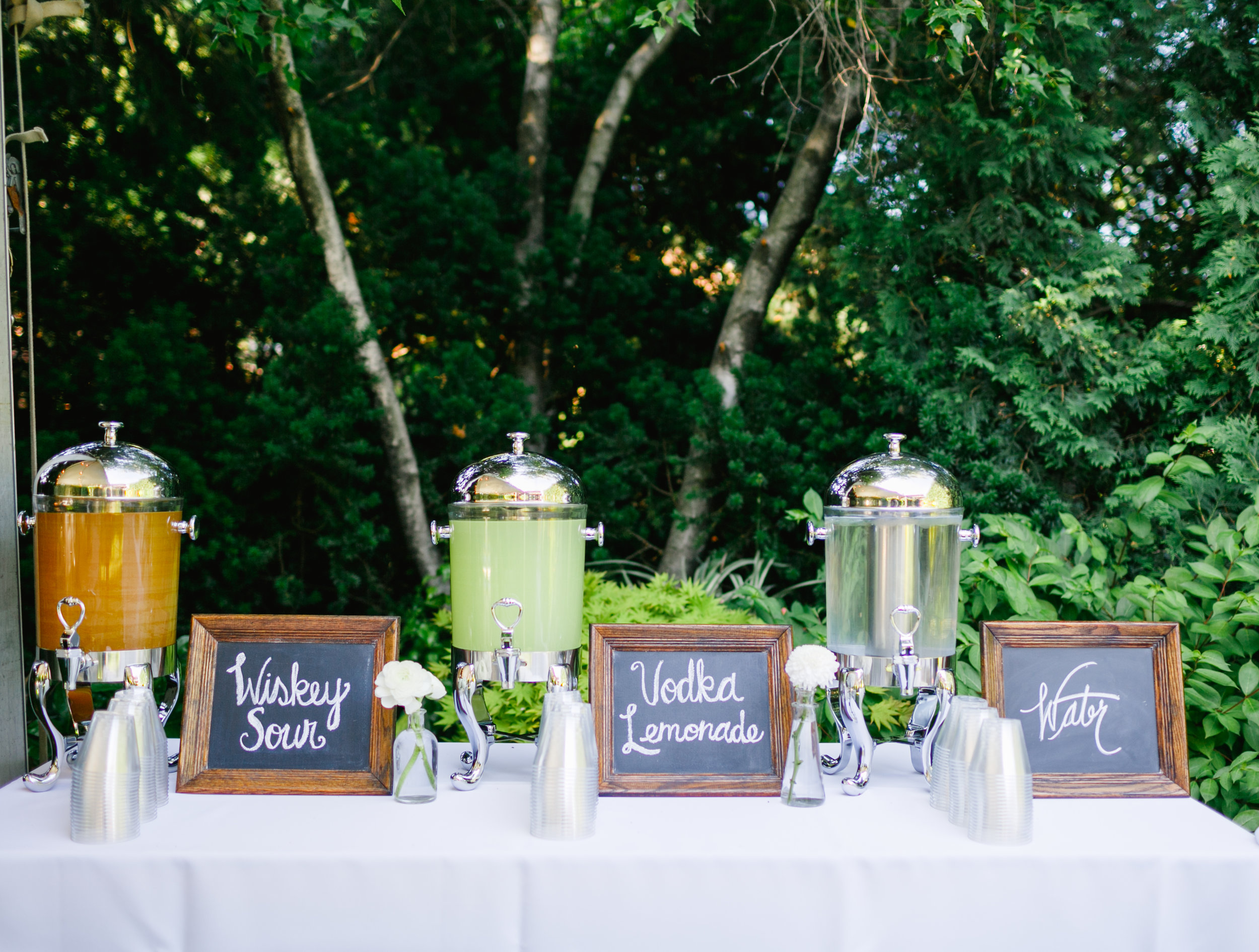 40th Anniversary Party  Drink Table Decor  Party Drinks  Planning by Wrap It Up Parties