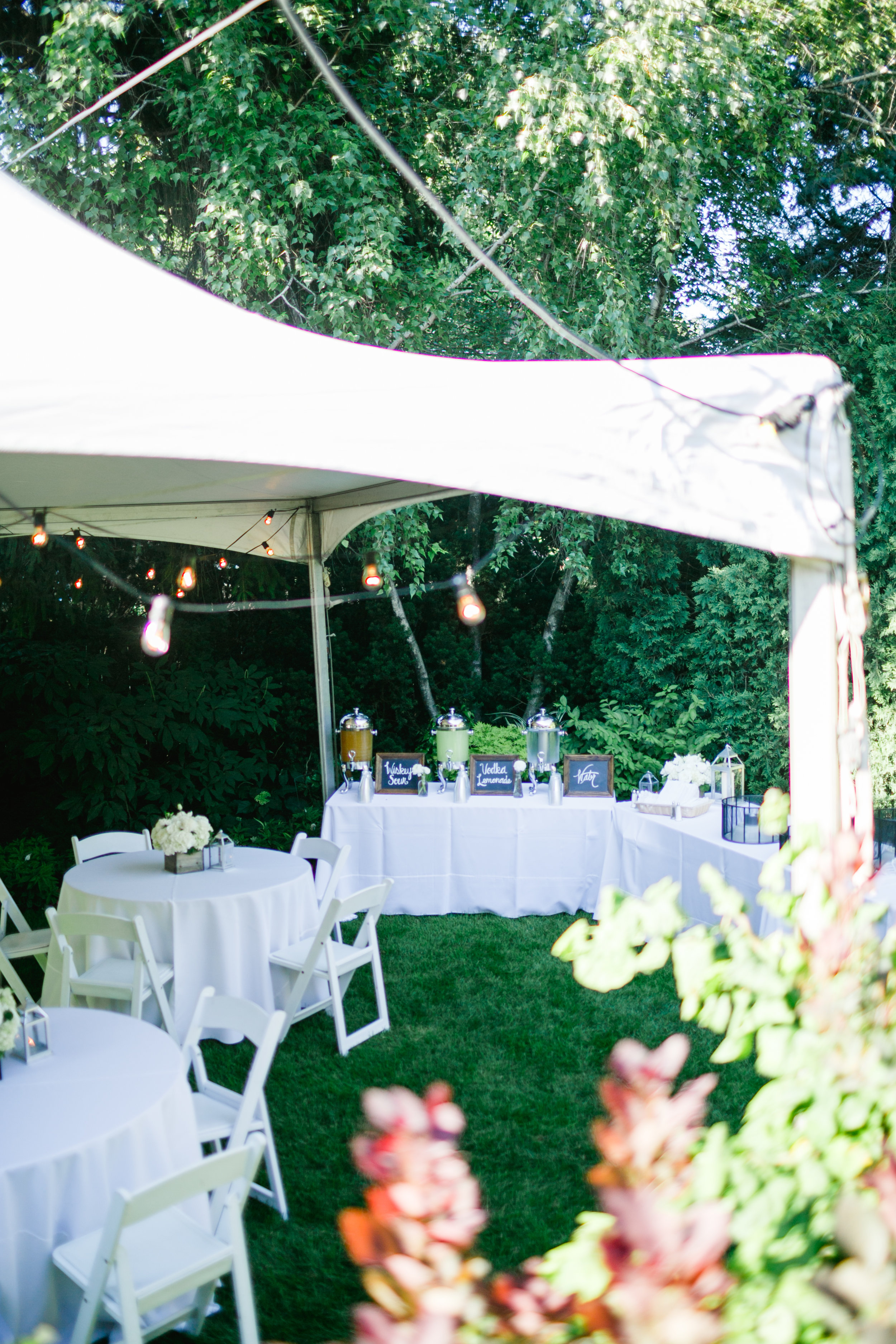 40th Anniversary Party  Tent Decor   Planning by Wrap It Up Parties