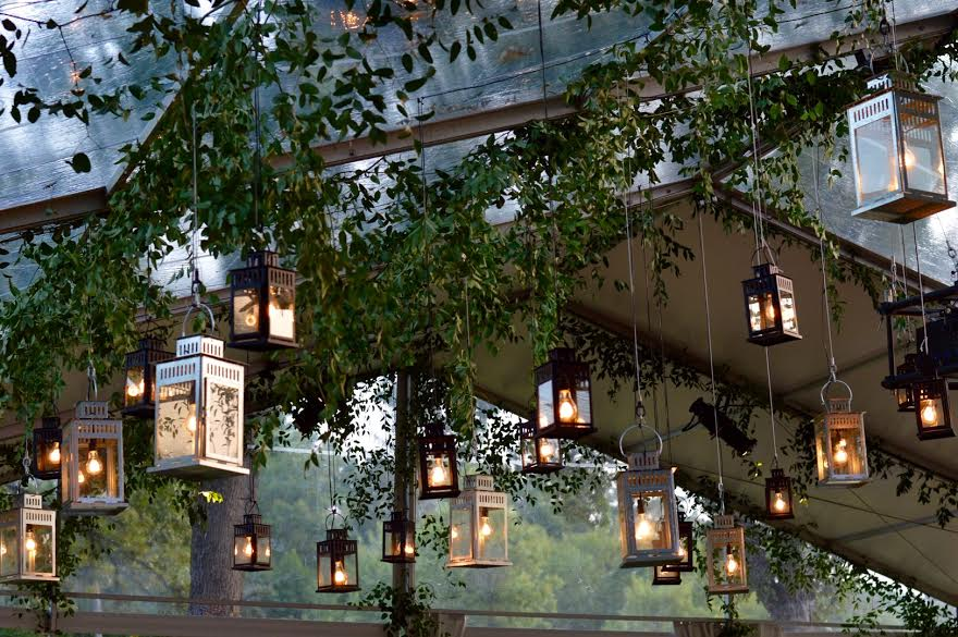 Celebration of Life Event  Tented Hanging Lanterns   Planning by Wrap It Up Parties