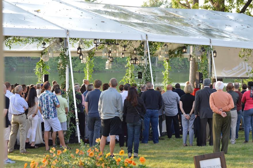 Celebration of Life  Backyard Tented Event   Planning by Wrap It Up Parties