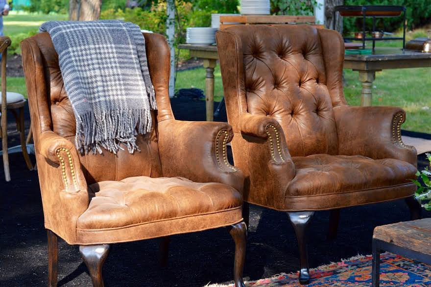 Celebration of Life  Backyard Party  Leather Chairs  Planning by Wrap It Up Parties