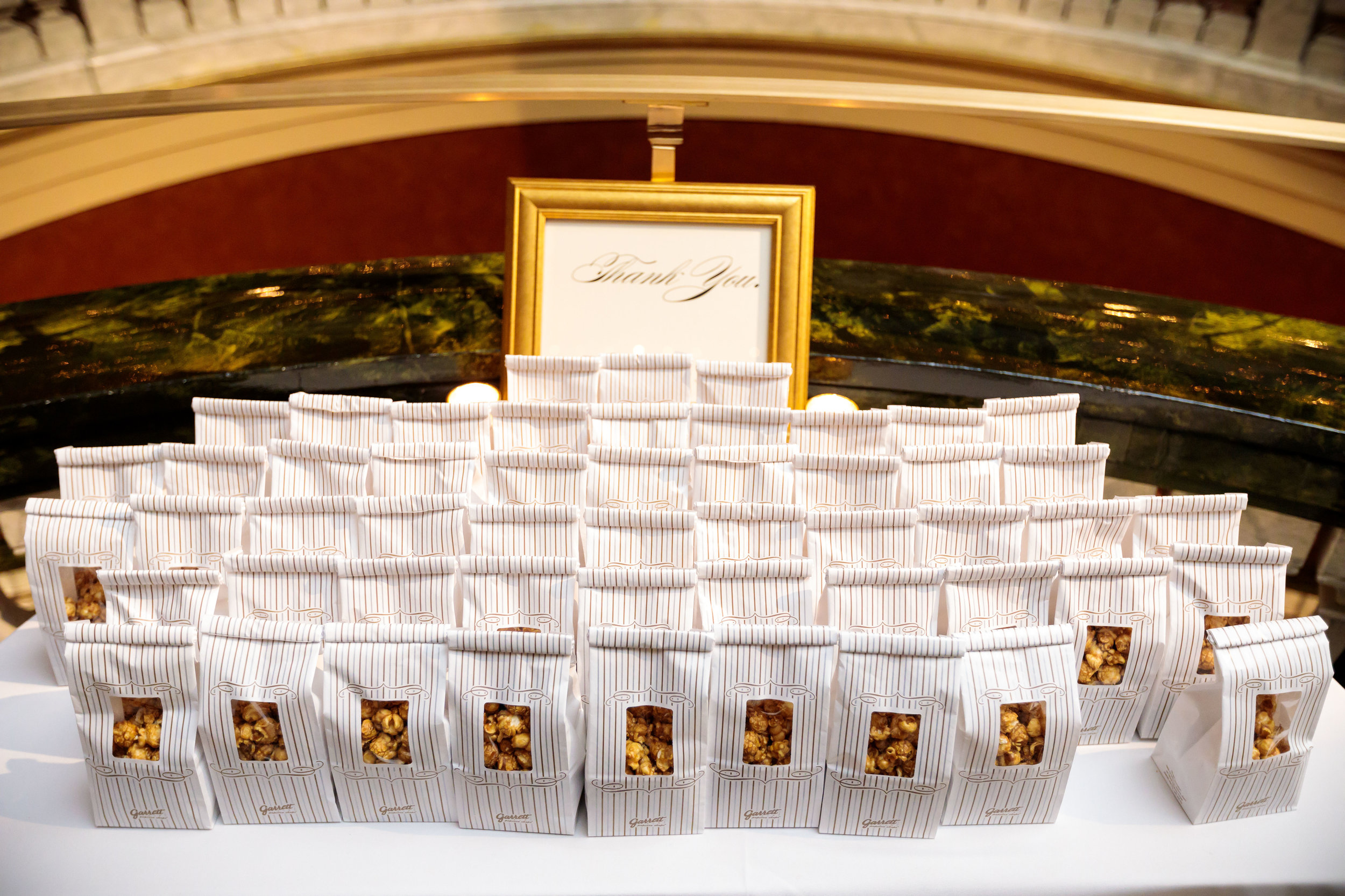 Popcorn Favors  Popcorn Table  School of the Art Institute  Planning by Wrap It Up Parties