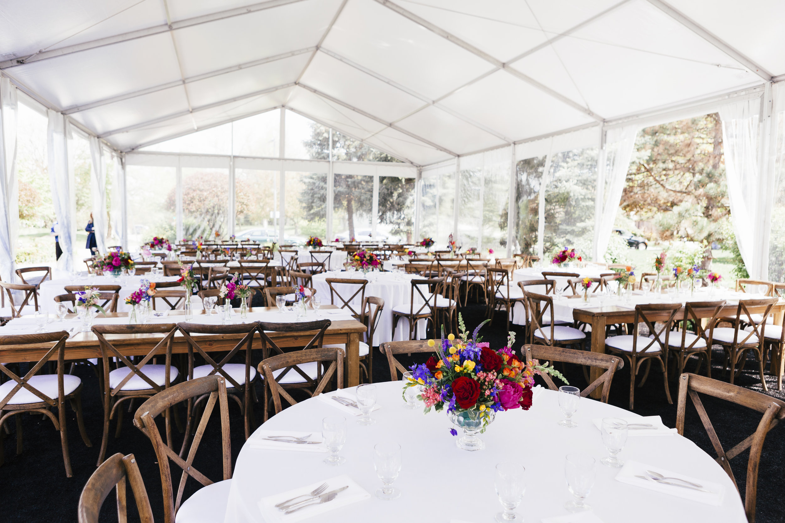 Private Residence Wedding  Colorful Floral Decor  Planning by Wrap It Up Parties
