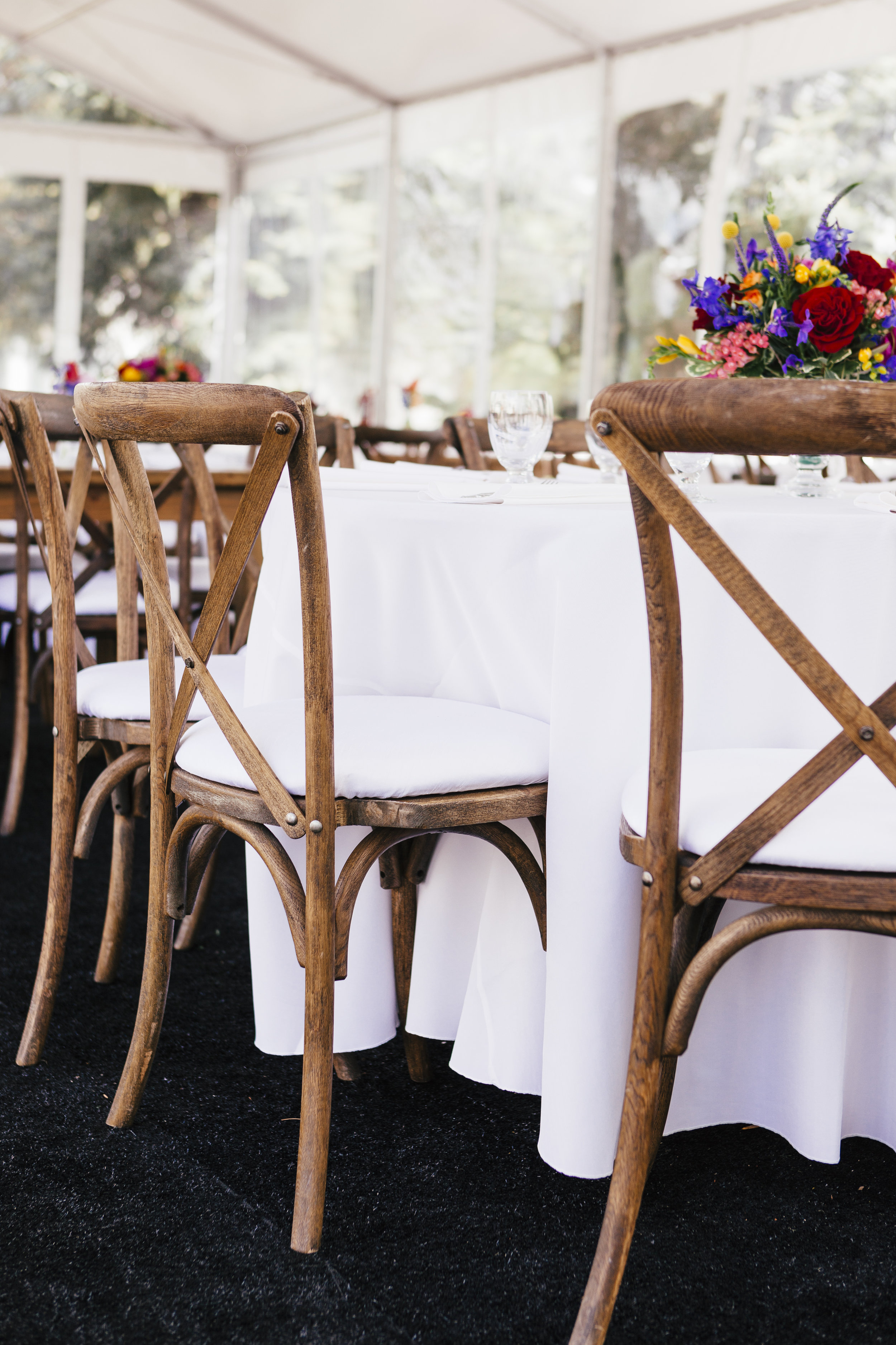 Private Residence Wedding  Tent Reception Seating  Planning by Wrap It Up Parties