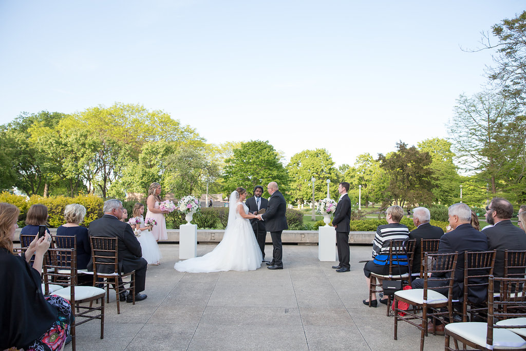 Bride and Groom  Wedding Ceremony  Planning by Wrap It Up Parties