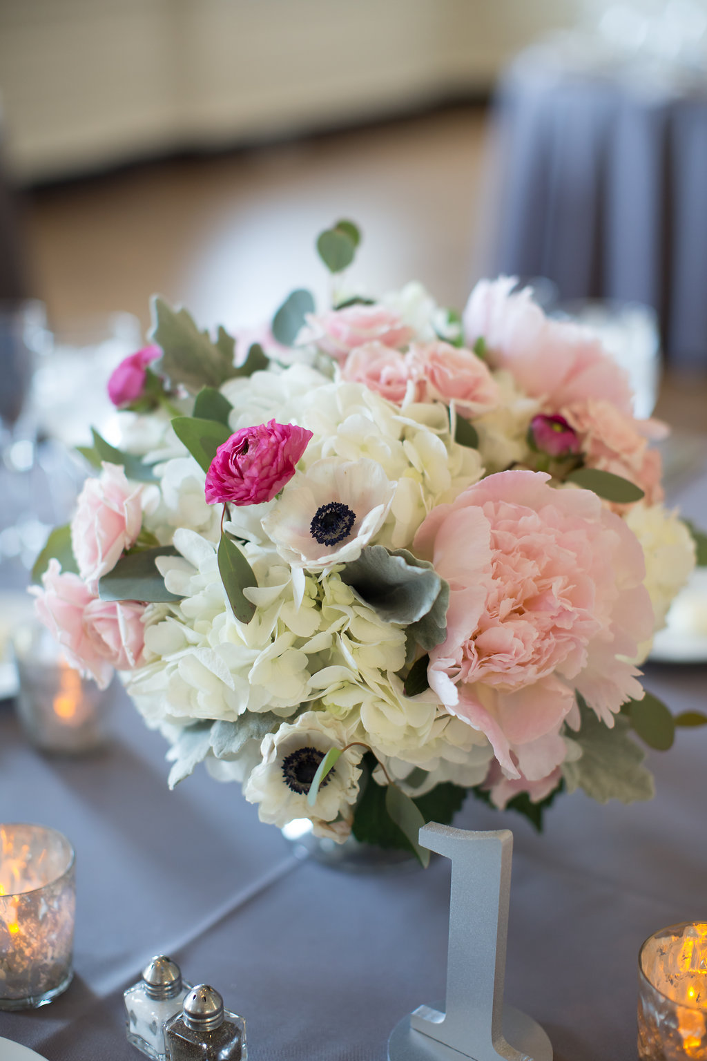 Pink and White Centerpiece  Planning by Wrap It Up Parties