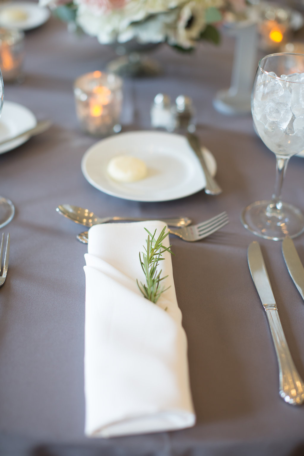 Reception Table Setting  Greenery Accents  Planning by Wrap It Up Parties