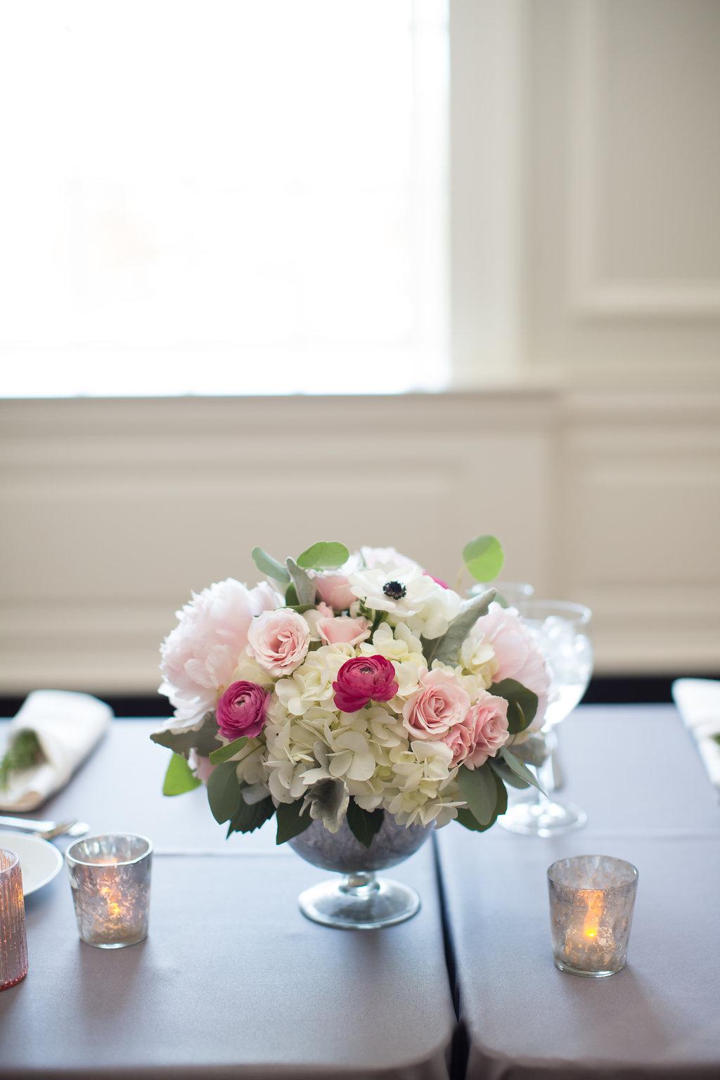 Reception Centerpiece  Reception Tablescape  Planning by Wrap It Up Parties