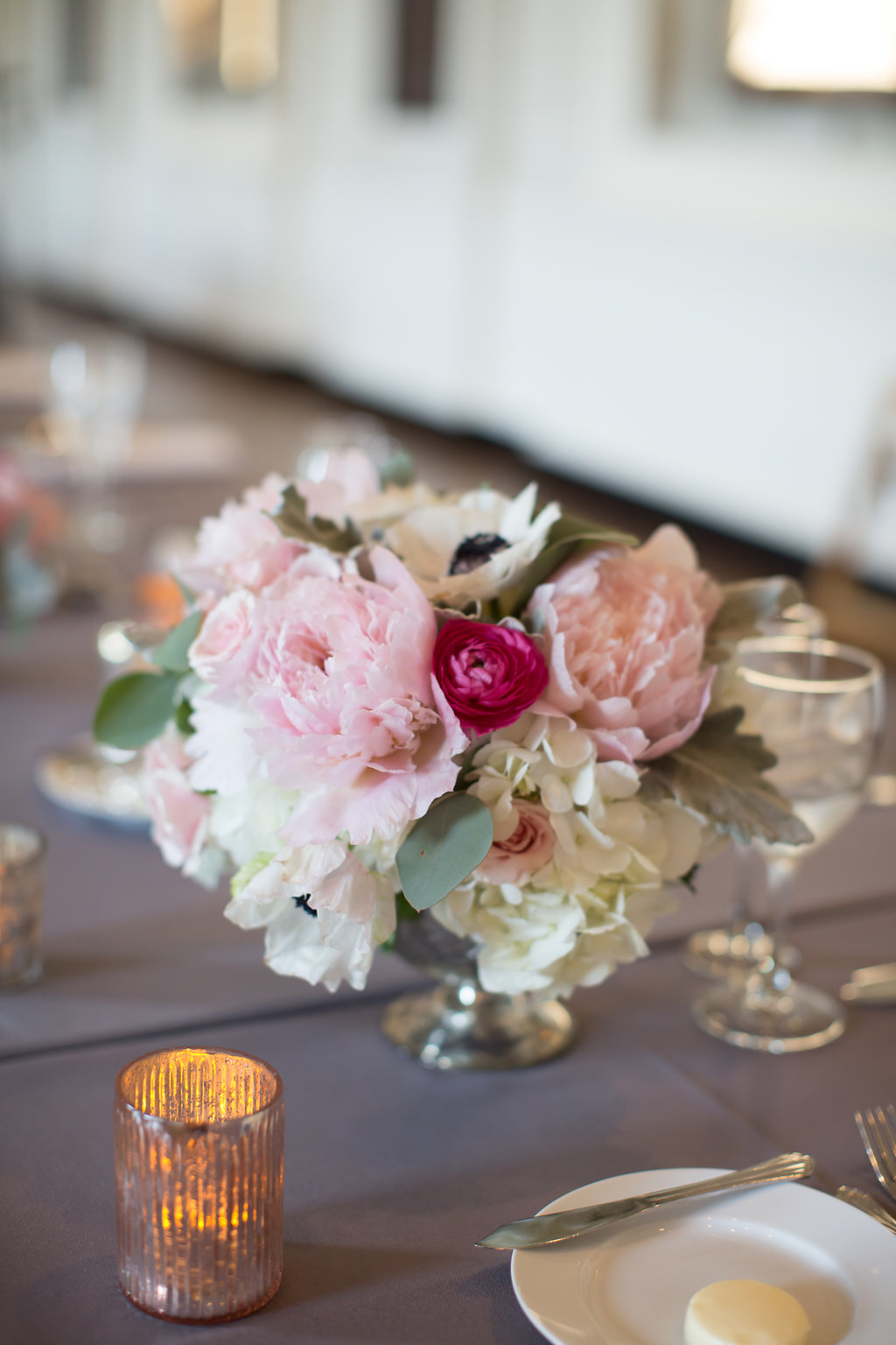 Pink and White Arrangement  Planning by Wrap It Up Parties