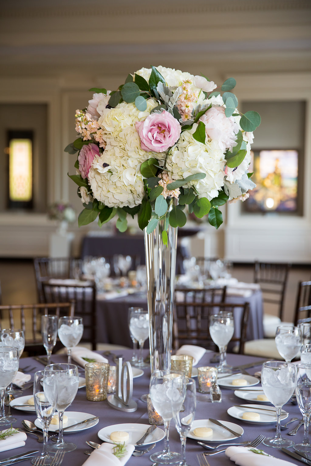 Wedding Reception Centerpiece  Wedding Reception Tablescape  Planning by Wrap It Up Parties