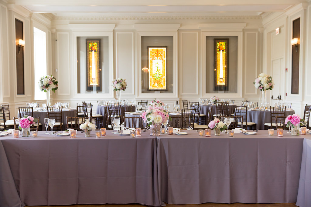 Wedding Reception  Head Table Seating  Planning by Wrap It Up Parties