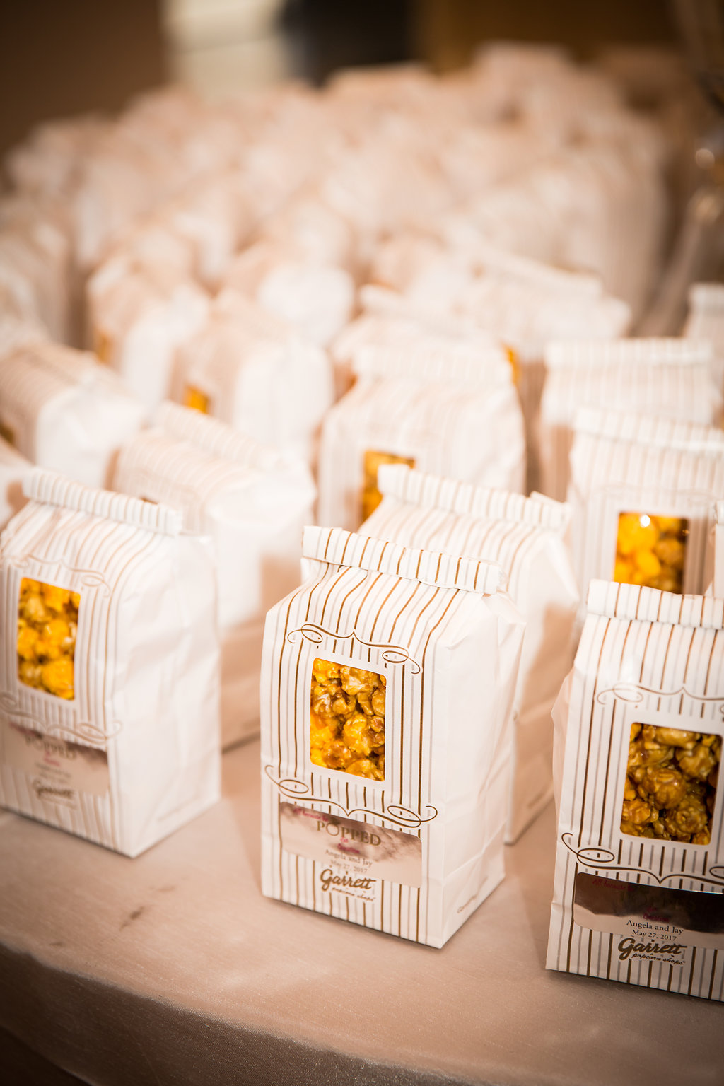 Popcorn Favors  Chicago Wedding  Planning by Wrap It Up Parties