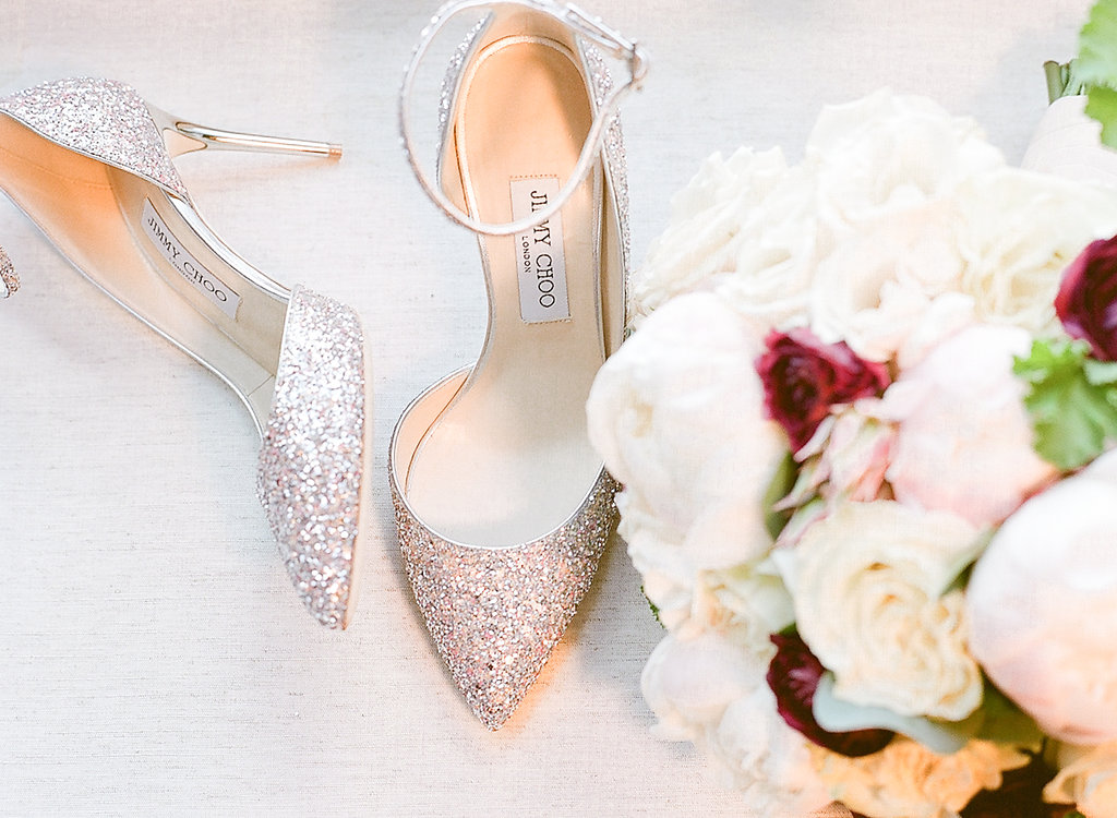 Wedding Shoes  Bridal Bouquet  Planning by Wrap It Up Parties