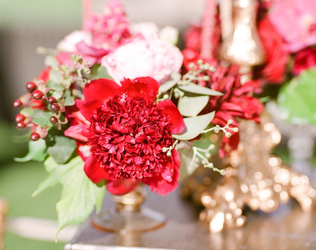 Bright Floral Arrangement  Planning by Wrap It Up Parties