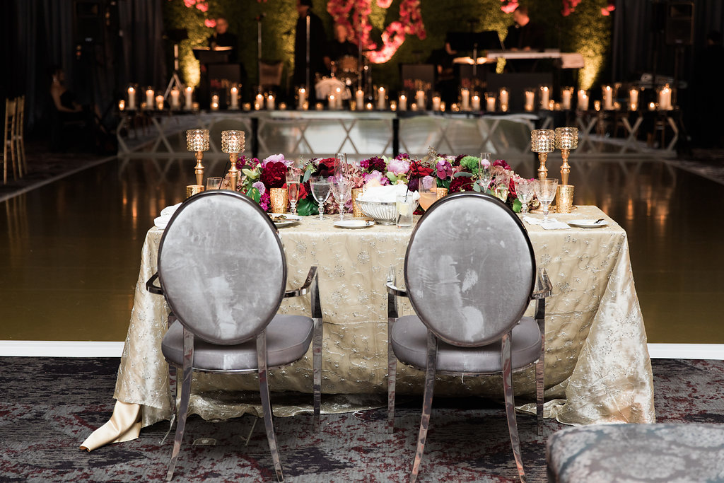 Sweetheart Table Chairs  Planning by Wrap It Up Parties