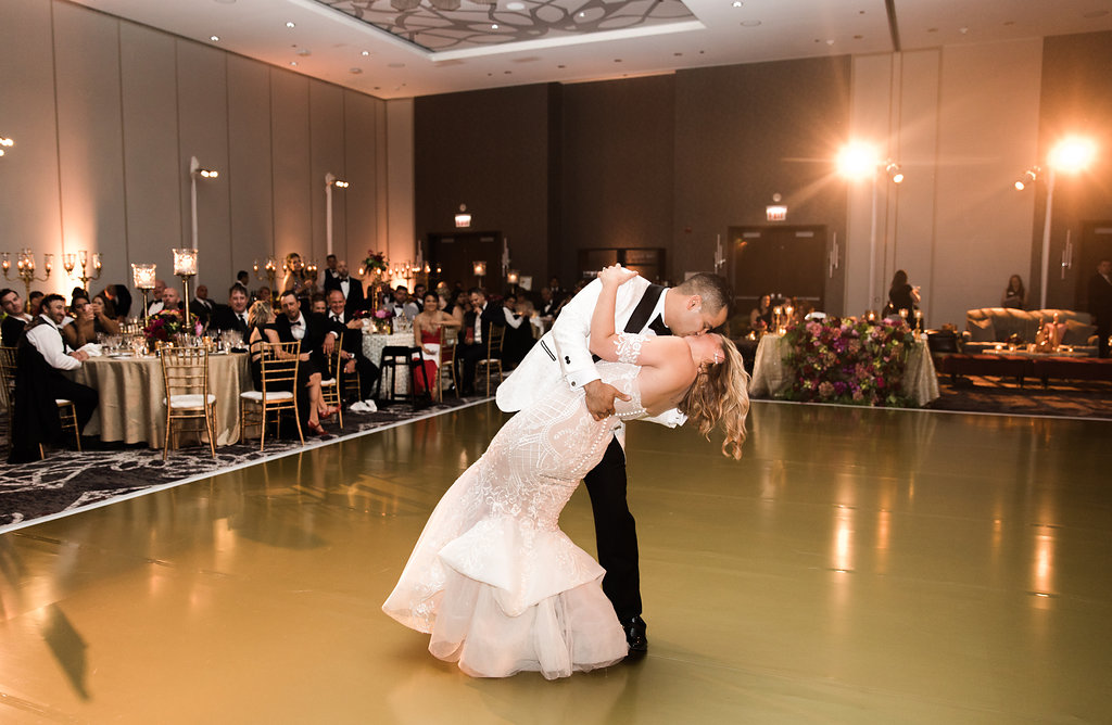 Bride and Groom  Loews Hotel  Planning by Wrap It Up Parties